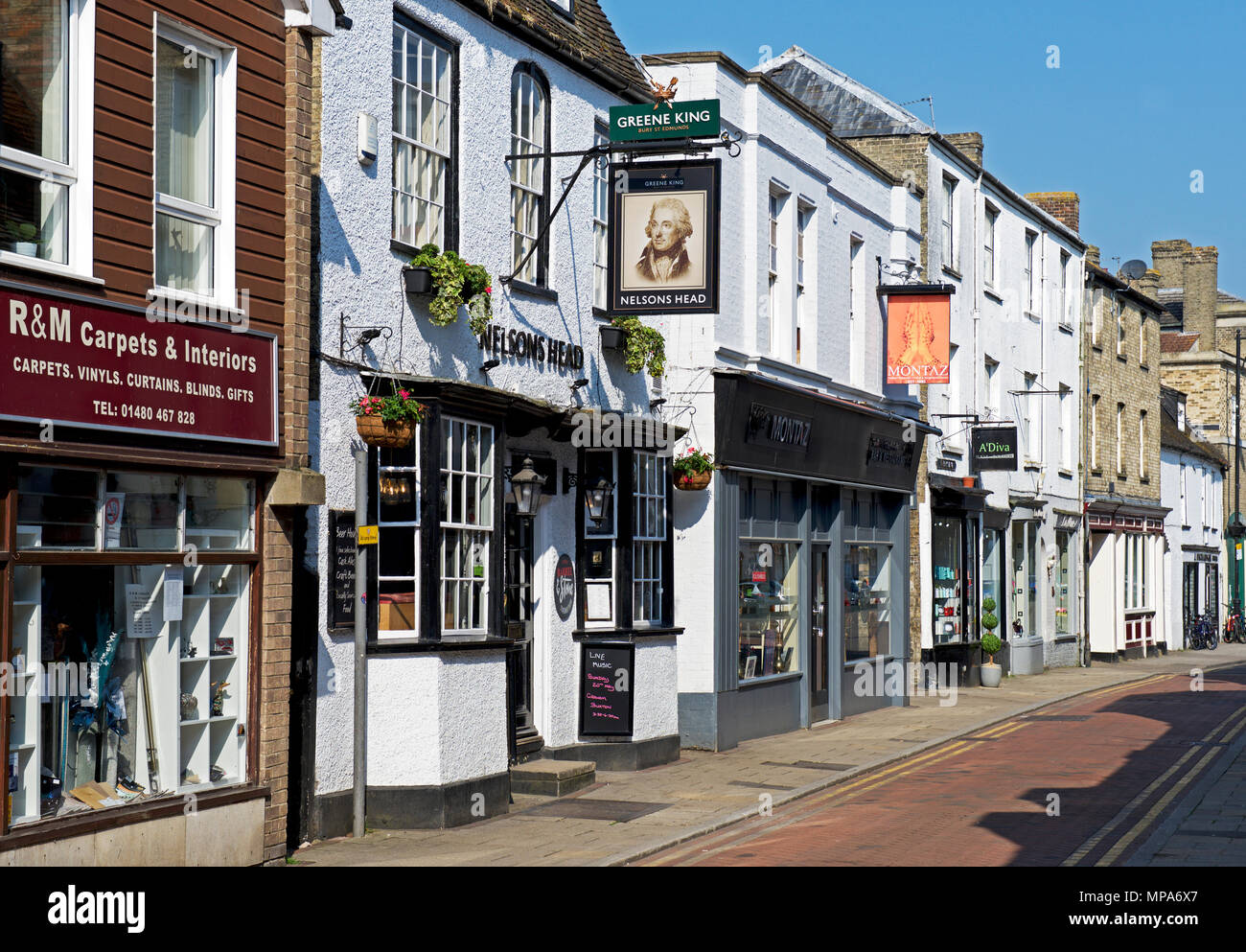 Street in St Ives, Cambridgeshire, England UK - Stock Image