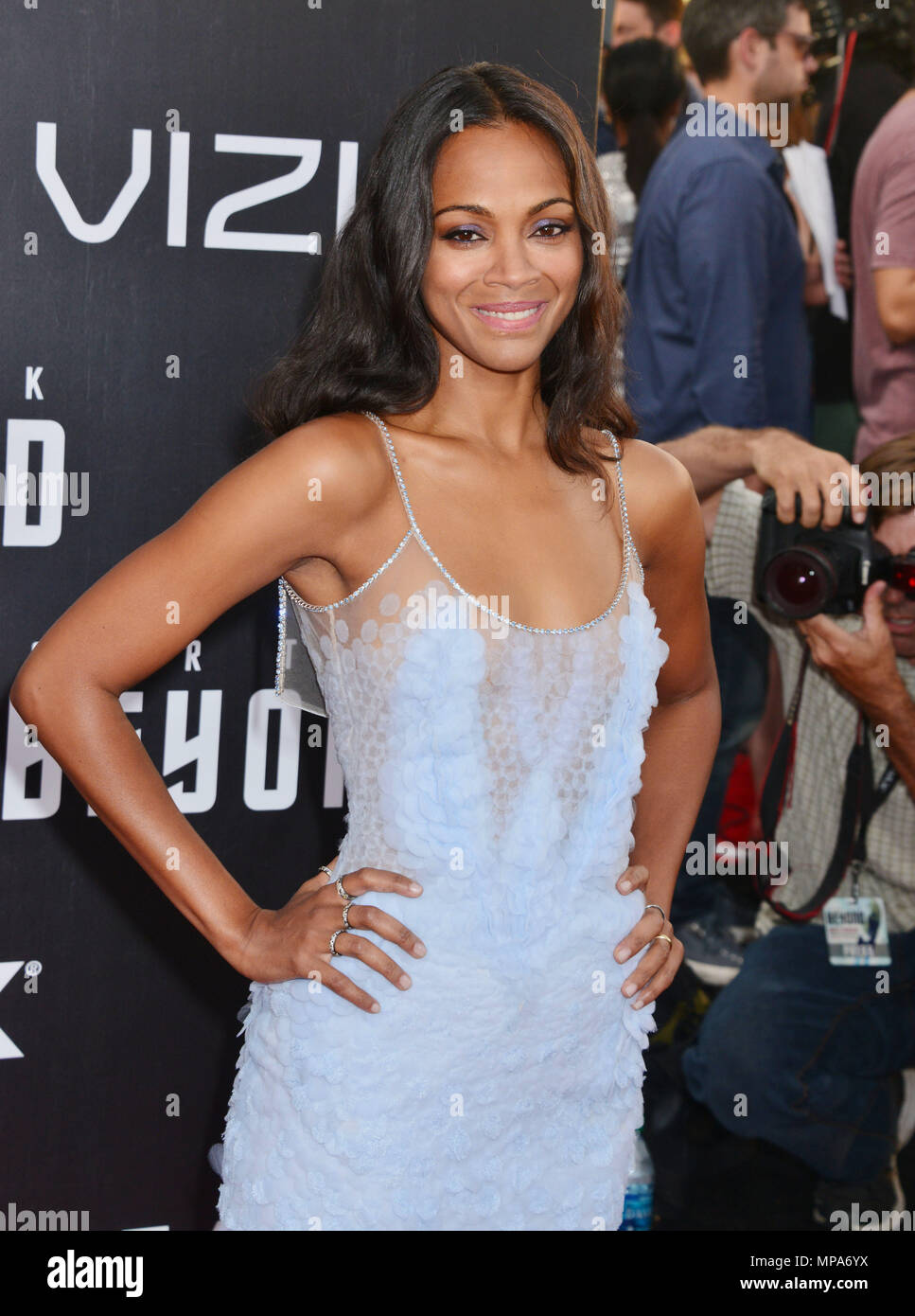 Zoe Saldana 057 Arriving At The Star Trek Beyond Premiere At The Embarcadero In San Diego Comicon Convention July 20 2016 A Zoe Saldana 057 Red Carpet Event Vertical Usa