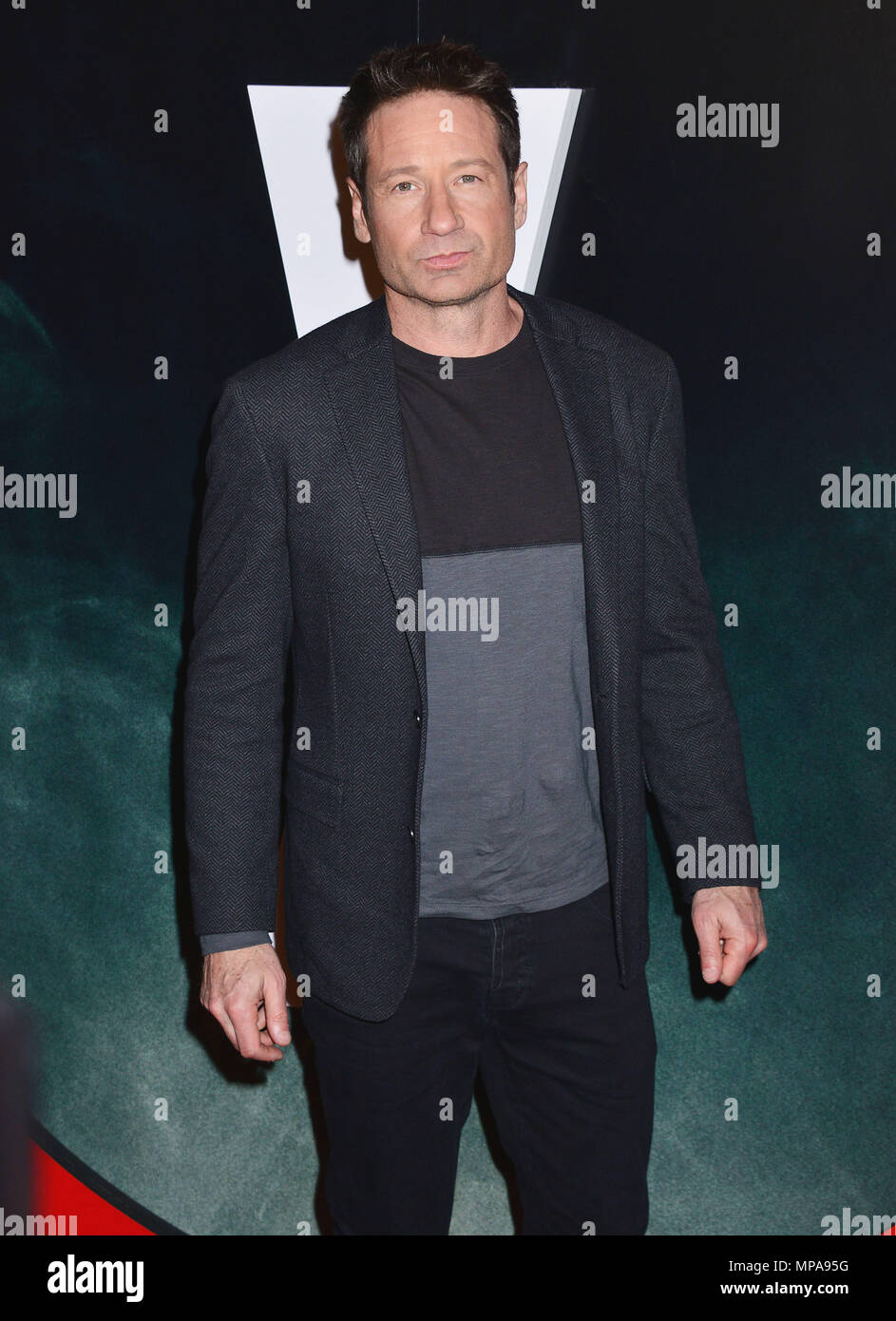 David Duchovny 022  at The X-Files Premiere at California Science Center in Los Angeles, CA  January 12, 2016.David Duchovny 022 ------------- Red Carpet Event, Vertical, USA, Film Industry, Celebrities,  Photography, Bestof, Arts Culture and Entertainment, Topix Celebrities fashion /  Vertical, Best of, Event in Hollywood Life - California,  Red Carpet and backstage, USA, Film Industry, Celebrities,  movie celebrities, TV celebrities, Music celebrities, Photography, Bestof, Arts Culture and Entertainment,  Topix, Three Quarters, vertical, one person,, from the year , 2016, inquiry tsuni@Gamma - Stock Image