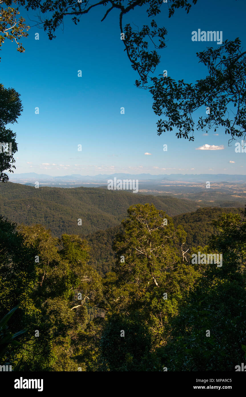 View south from Western Window, Mt Glorious, D'Aguilar National Park, Queensland, Australia - Stock Image