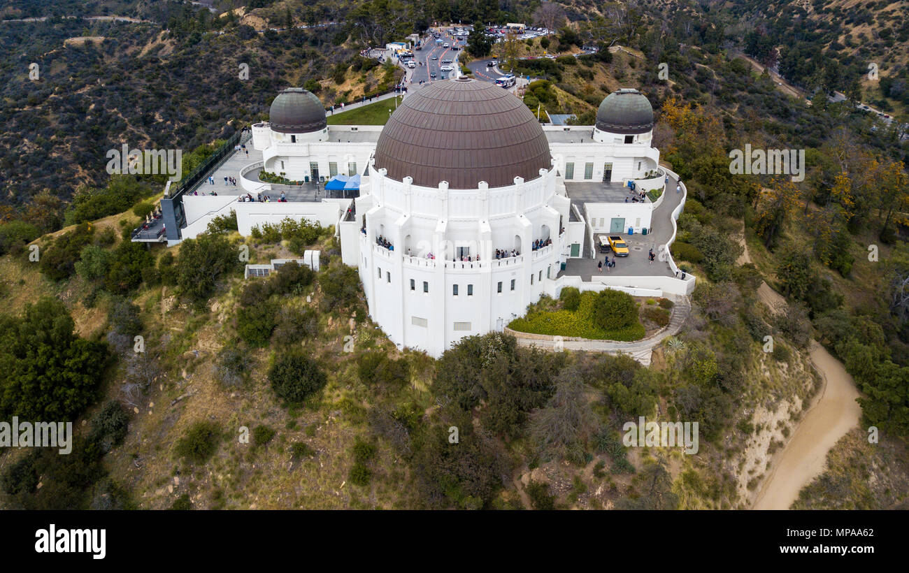 Griffith Observatory, Los Angeles, California - Stock Image