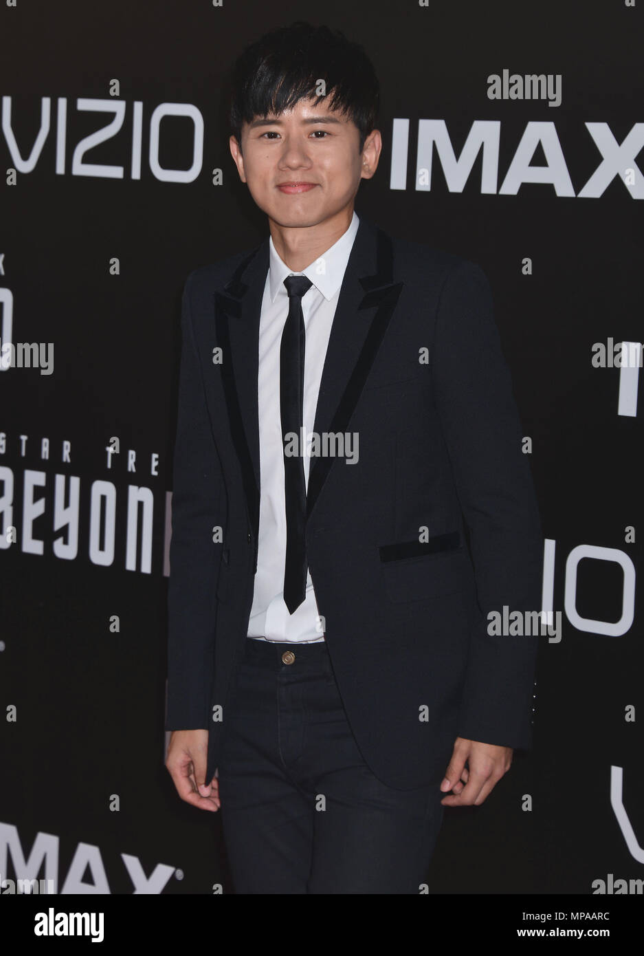 Jason Zhang     arriving at the Star Trek Beyond Premiere at the Embarcadero in San Diego ( Comicon Convention ), July 20, 2016.Jason Zhang    ------------- Red Carpet Event, Vertical, USA, Film Industry, Celebrities,  Photography, Bestof, Arts Culture and Entertainment, Topix Celebrities fashion /  Vertical, Best of, Event in Hollywood Life - California,  Red Carpet and backstage, USA, Film Industry, Celebrities,  movie celebrities, TV celebrities, Music celebrities, Photography, Bestof, Arts Culture and Entertainment,  Topix, Three Quarters, vertical, one person,, from the year , 2016, inqui Stock Photo