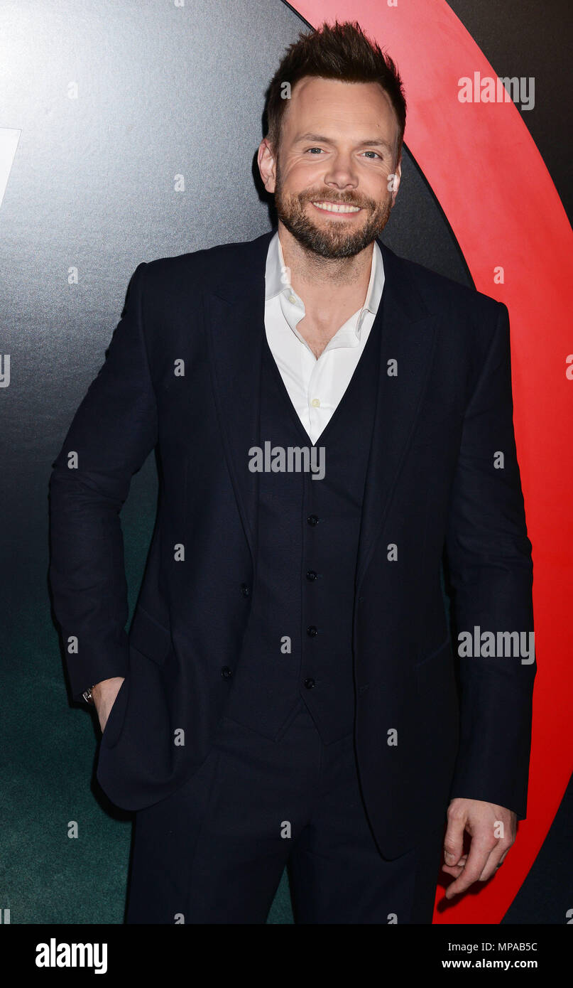Joel McHale 035  at The X-Files Premiere at California Science Center in Los Angeles, CA  January 12, 2016.Joel McHale 035 ------------- Red Carpet Event, Vertical, USA, Film Industry, Celebrities,  Photography, Bestof, Arts Culture and Entertainment, Topix Celebrities fashion /  Vertical, Best of, Event in Hollywood Life - California,  Red Carpet and backstage, USA, Film Industry, Celebrities,  movie celebrities, TV celebrities, Music celebrities, Photography, Bestof, Arts Culture and Entertainment,  Topix, Three Quarters, vertical, one person,, from the year , 2016, inquiry tsuni@Gamma-USA.c - Stock Image