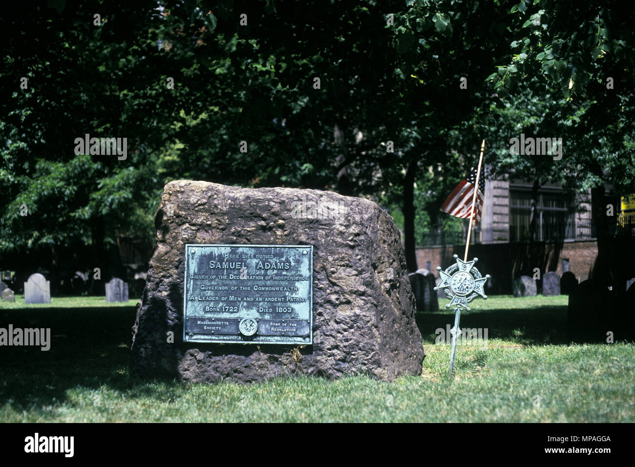 Burial Ground Massachusetts New England Stock Photos