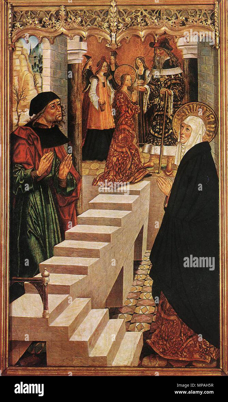 English: Presentation of the Virgin in the Temple   circa 1500.   870 Master Of Budapest - Presentation of the Virgin in the Temple - WGA14376 - Stock Image