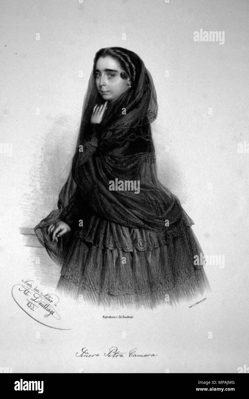 OLYMPUS DIGITAL CAMERA    . Deutsch: Petra Camara, um 1850 berühmte spanische Tänzerin. Lithographie von Adolf Dauthage, 1853 . 1853. Adolf Dauthage (1825-1883) 979 Petra Camara Litho - Stock Image