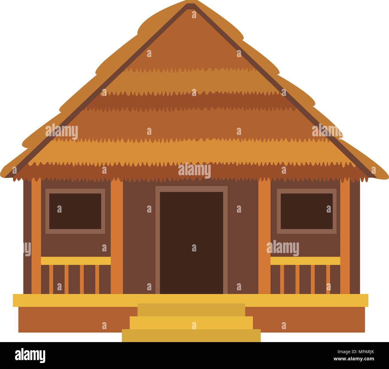 Wooden house isolated - Stock Vector