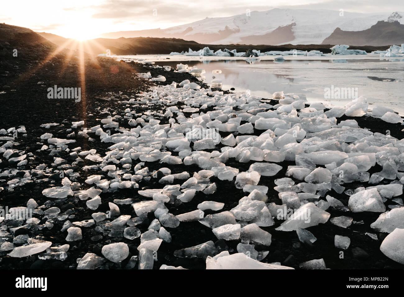 diamond beach Iceland - Stock Image