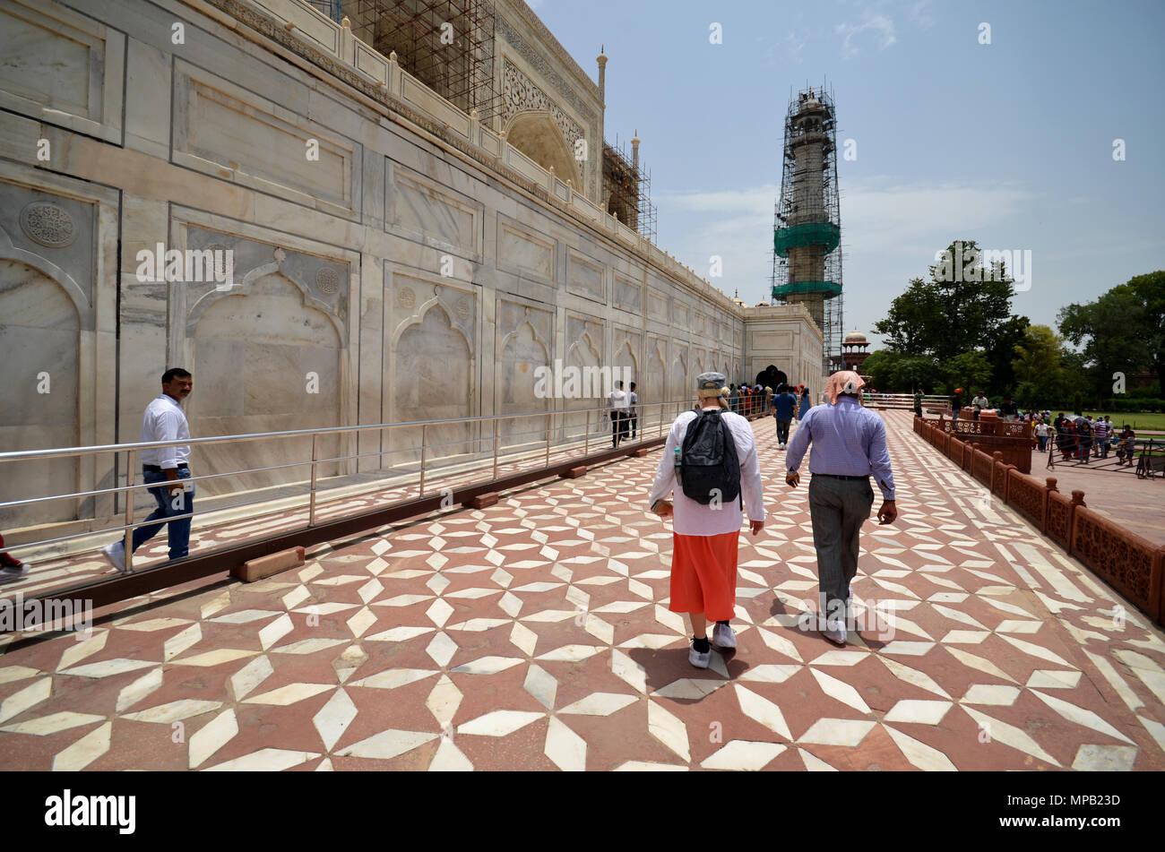 Taj Mahal under repair - Stock Image