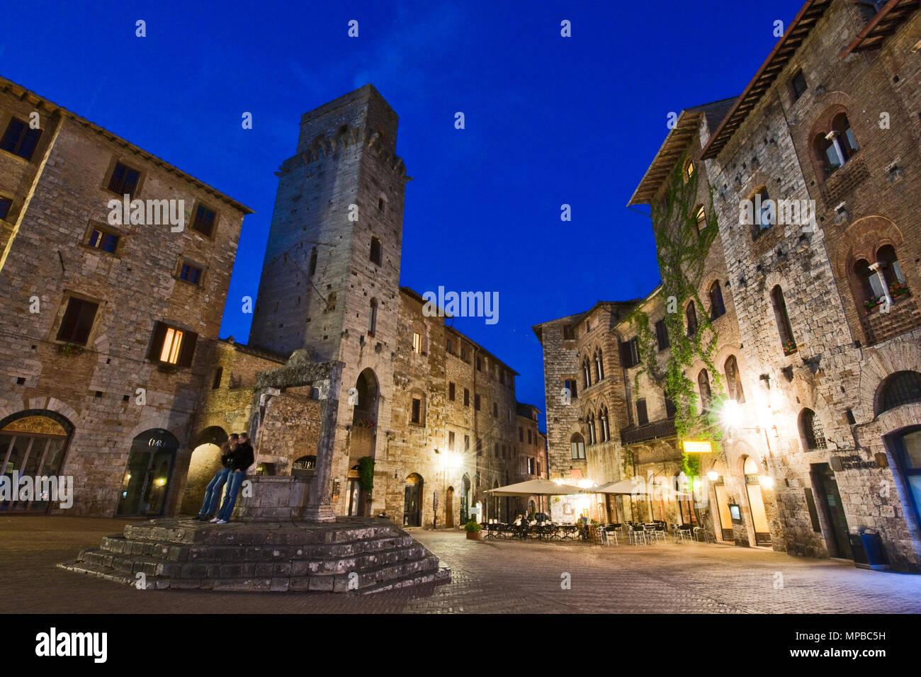 San Gimignano, Siena, Italien, Italy - Stock Image