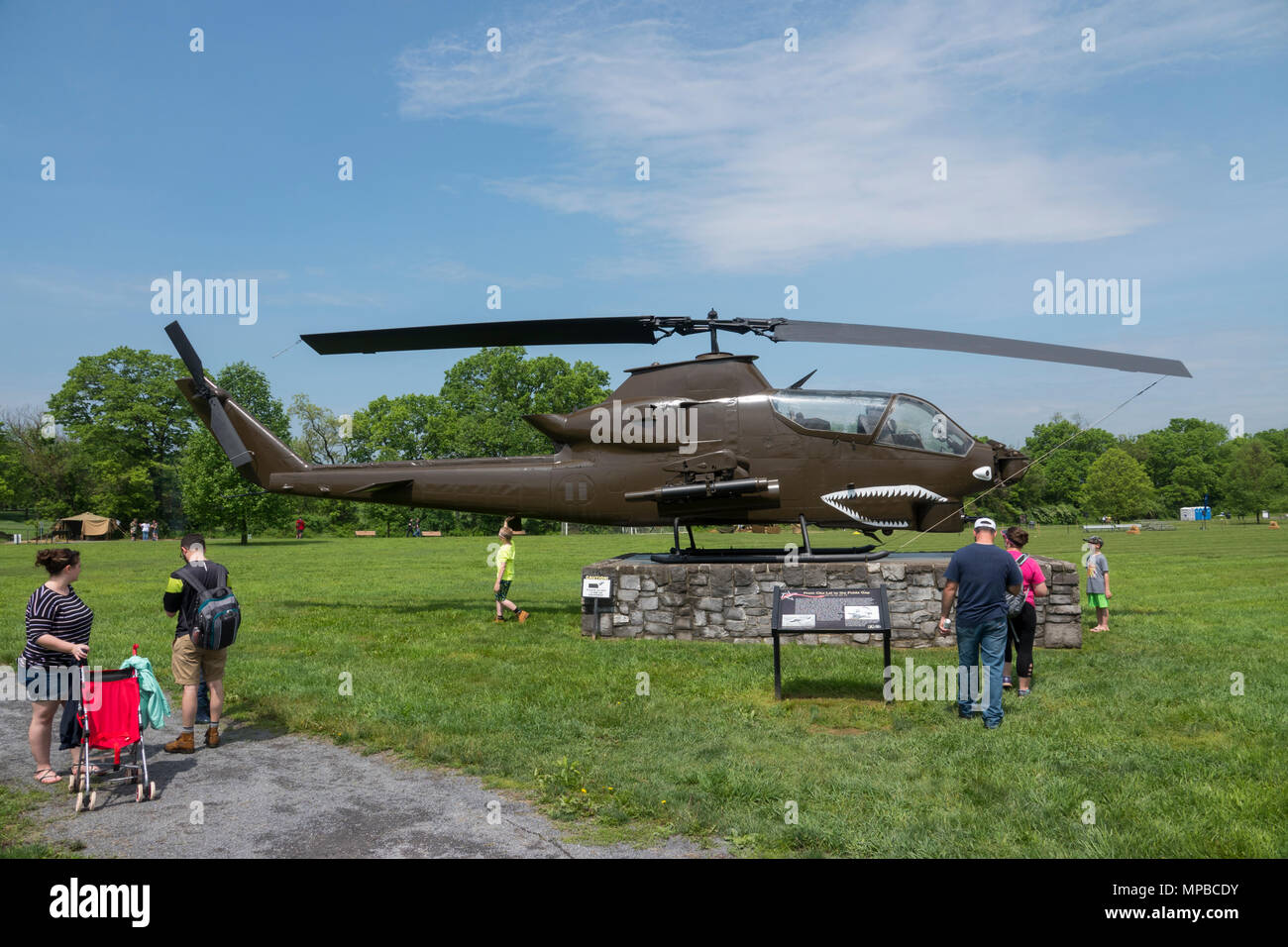 Bell AH-1 Cobra Helicopter at the The U.S. Army Heritage and Education Center - Stock Image