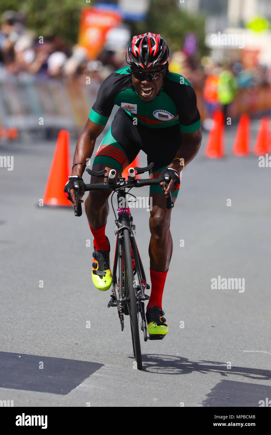 21st Commonwealth Games, Cycling Time Trial, Gold Coast, Queensl - Stock Image