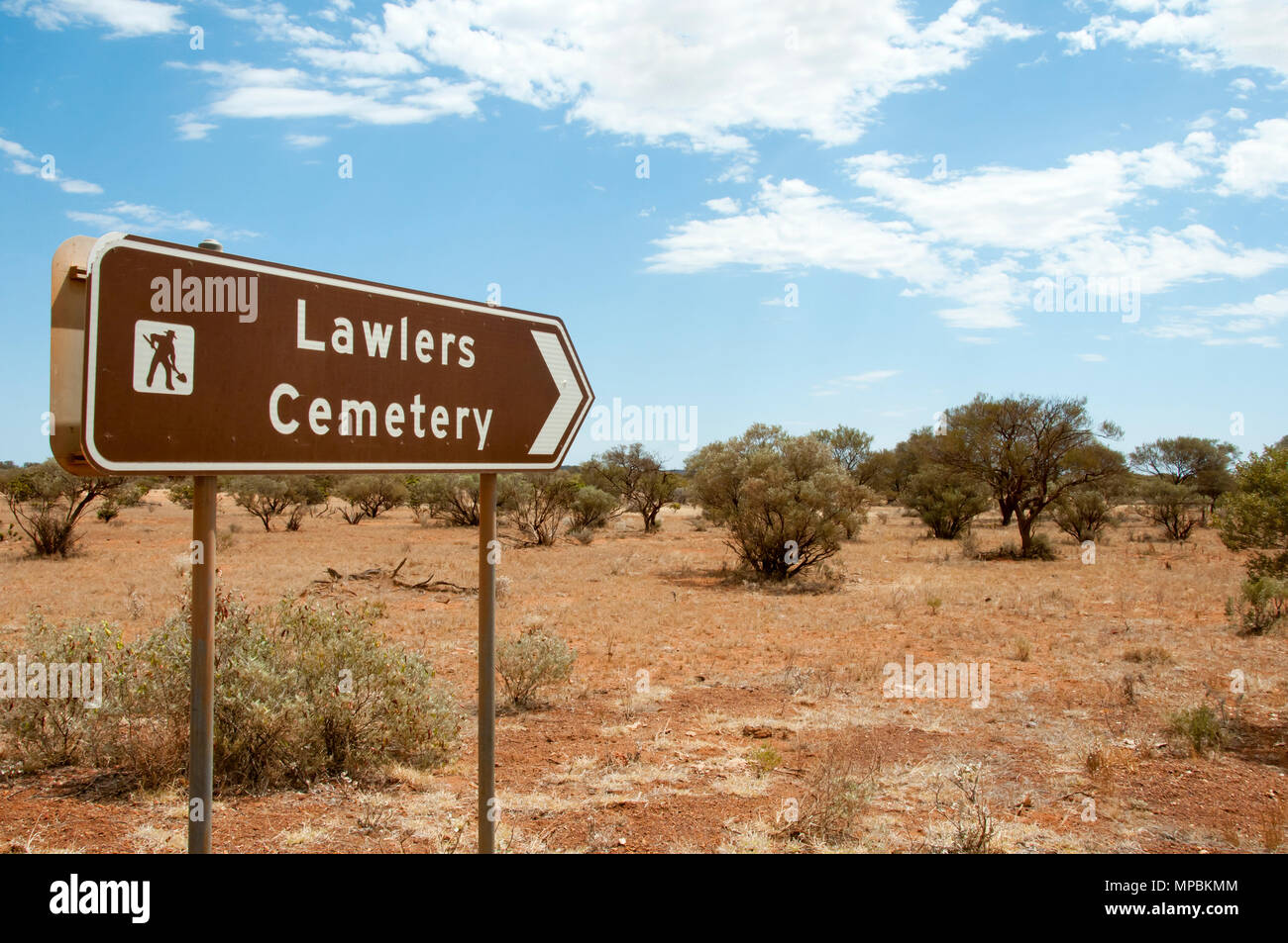 Lawler's Cemetery - Agnew - Western Australia - Stock Image