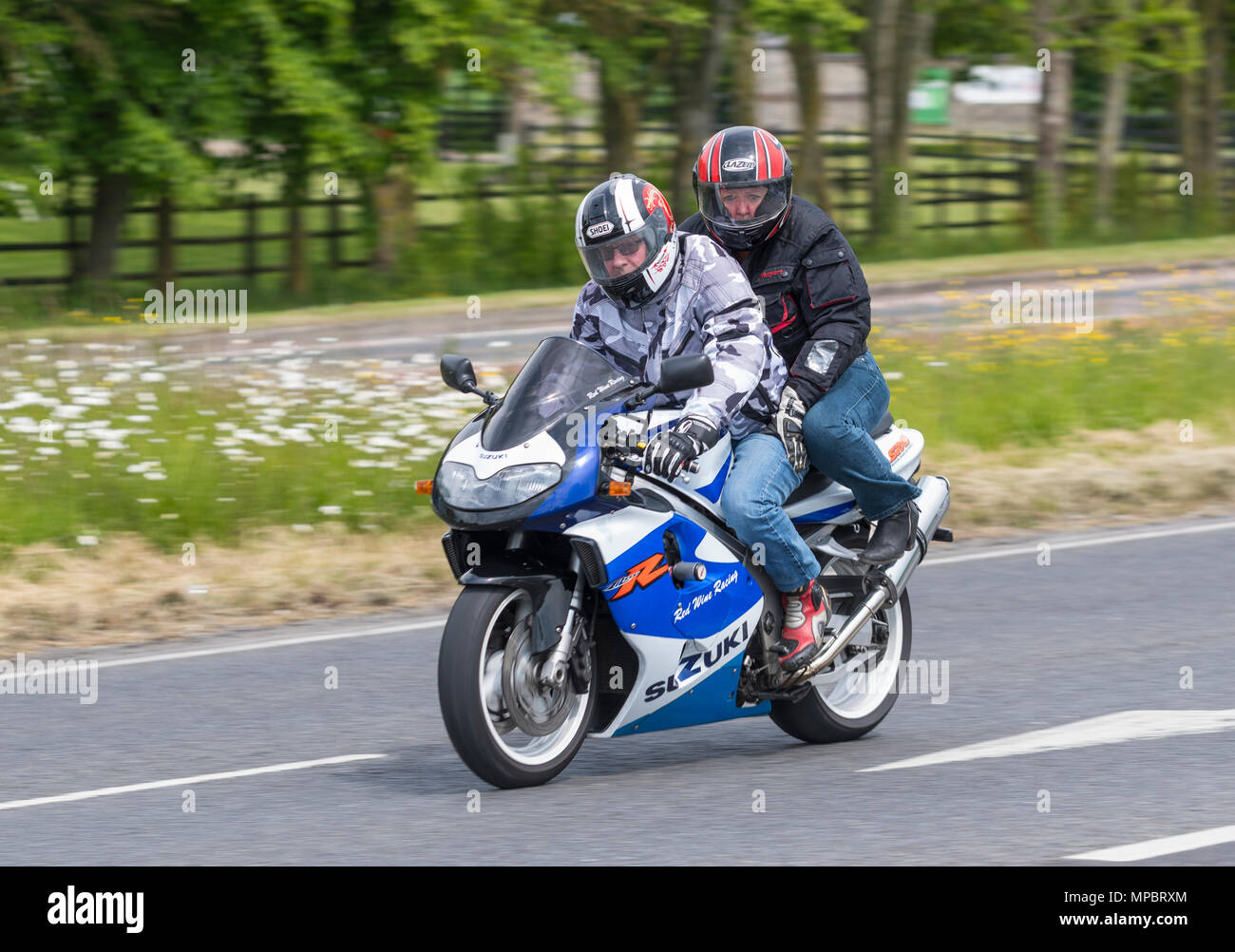 Suzuki Tl1000r Motorcycle A Racing Superbike With A Pillion