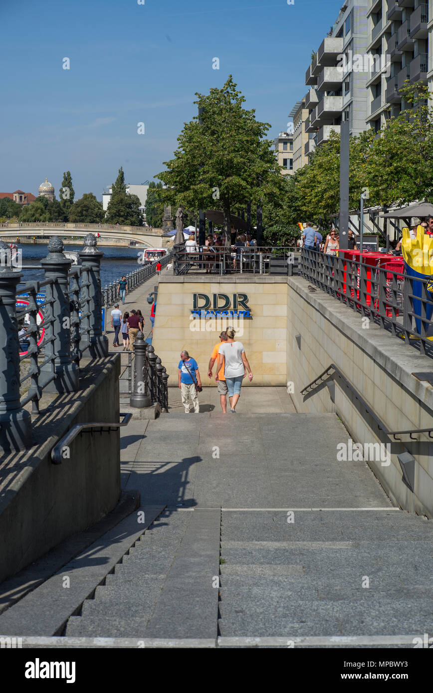 Berlin, Germany. Stairs to the DDR Museum, Memorabilia   30.08.17   © Peter SPURRIER. Leica Camera AG -  LEICA M (Typ 262), - Stock Image