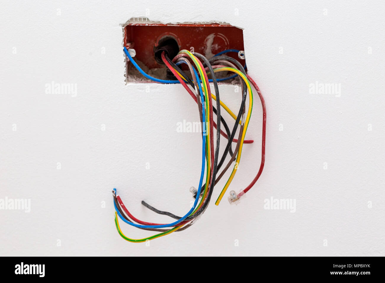 Unfinished Wall Showing Electrical Wiring Diagrams Source House Outlet Diagram Mains Socket With Wires