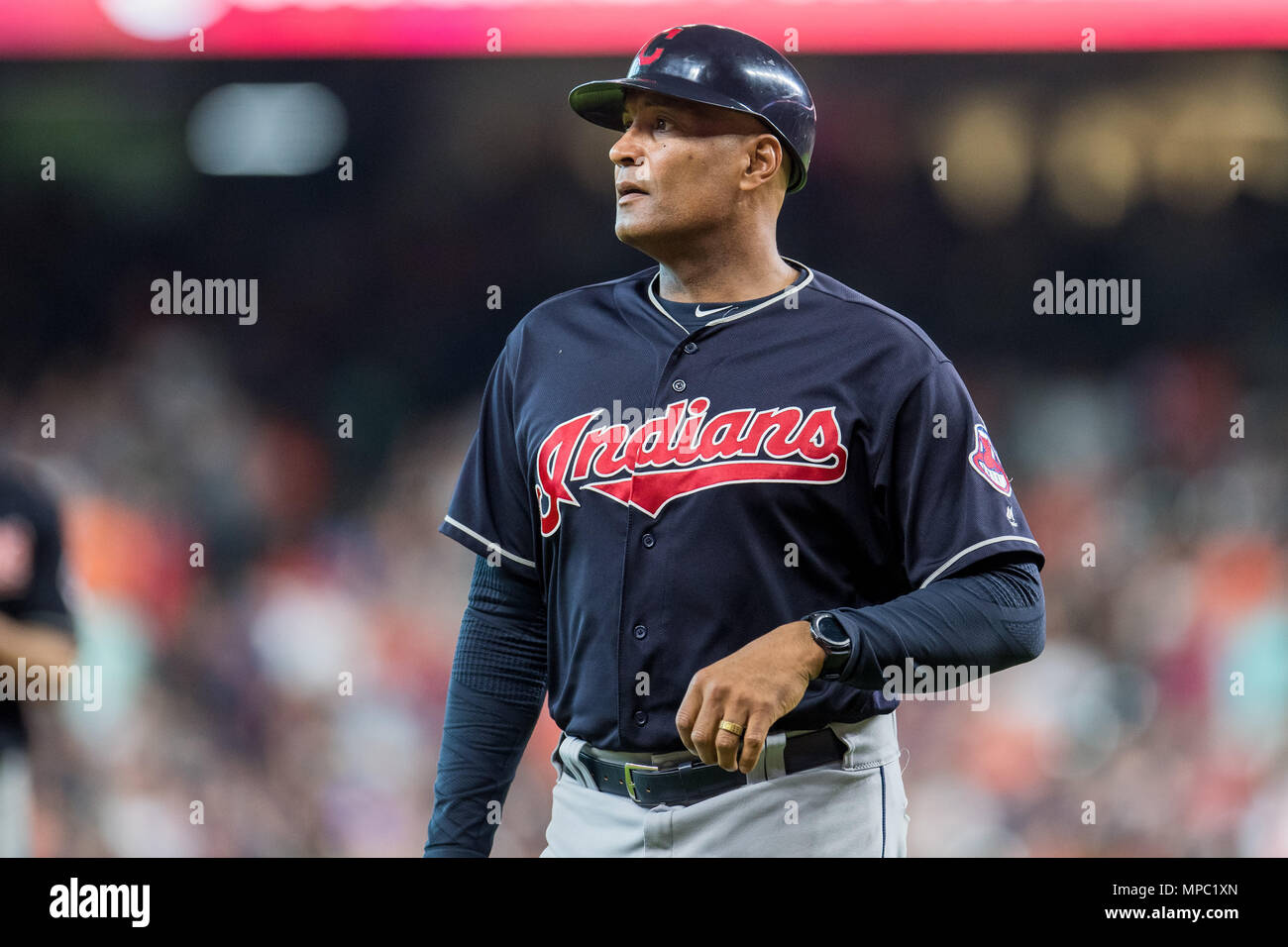 a81b69644c7 May 19, 2018: Cleveland Indians first base coach Sandy Alomar Jr. (15