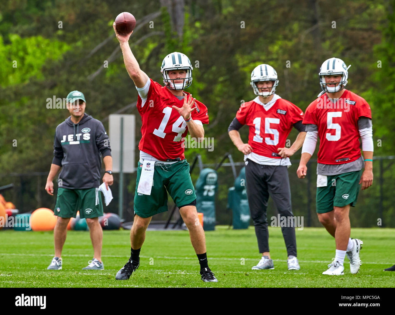 pretty nice ef9f3 0acad Florham Park, New Jersey, USA. 22nd May, 2018. New York Jets ...