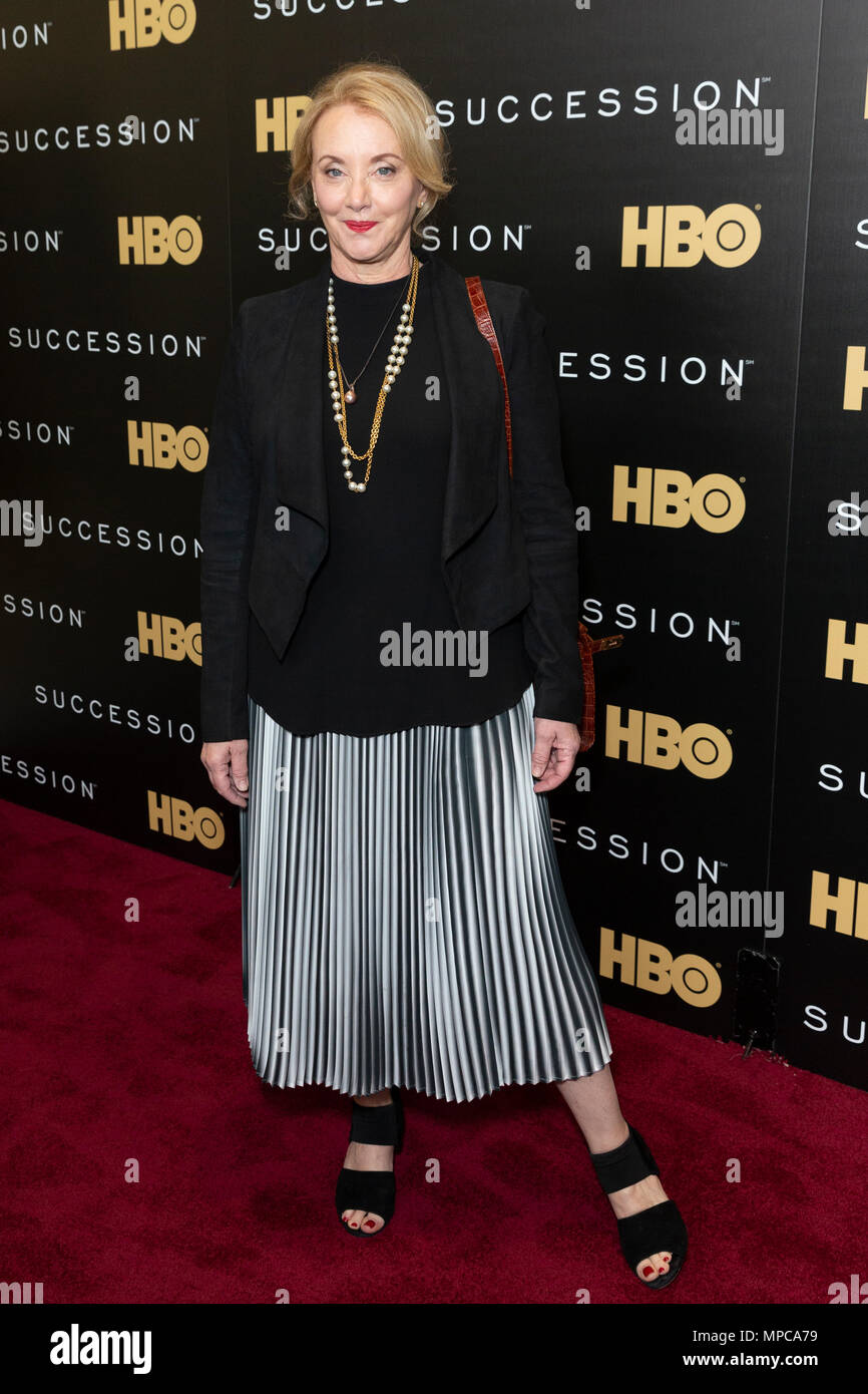 New York, NY - May 22, 2018: J. Smith-Cameron attends HBO drama Succession premiere at Time Warner Center Credit: lev radin/Alamy Live News Stock Photo