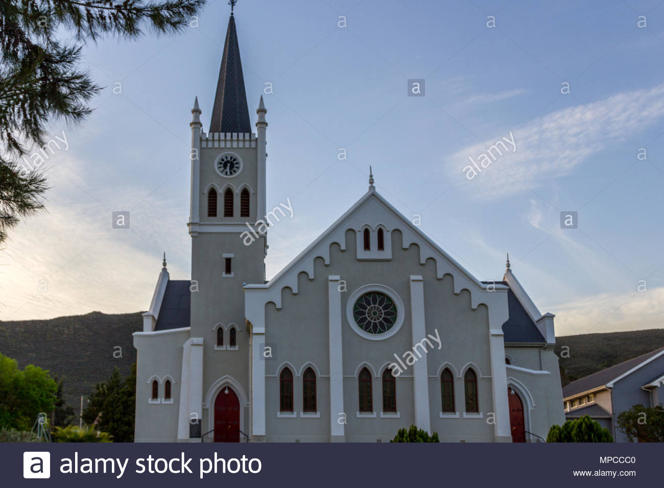 Dutch Reform Church, Barrydale, South Africa - Stock Image