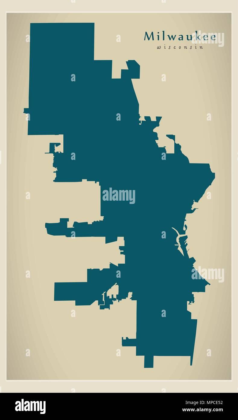 Modern City Map - Milwaukee Wisconsin city of the USA Stock Vector on wisconsin world map, wisconsin weather map, wisconsin road maps, wisconsin atlas map, wisconsin state flags, home of usa, wisconsin map of islands, wisconsin street map, wisconsin illinois map,