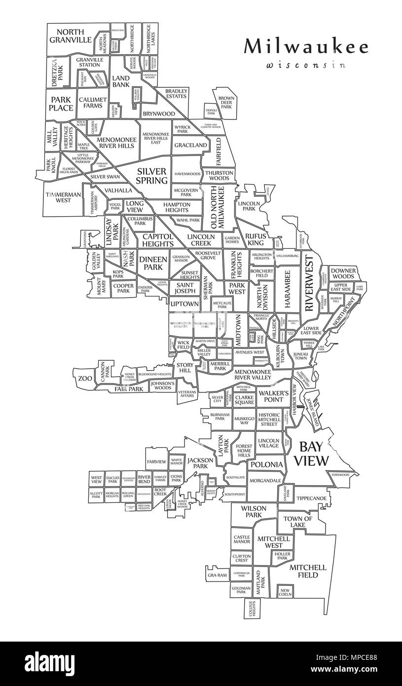 Modern City Map - Milwaukee Wisconsin city of the USA with ... on city of la junta map, city of louisiana map, city of two rivers map, city of alcoa map, city of alamosa map, city of monona map, city of franklin map, city of broomfield map, city of fort smith map, city of bloomfield hills map, city of oklahoma map, city of milwaukie map, city of rice lake map, city of panama city map, city of delavan map, city of st john's map, city of marquette map, city of atlantic city map, city of brooklyn map, city of youngstown map,