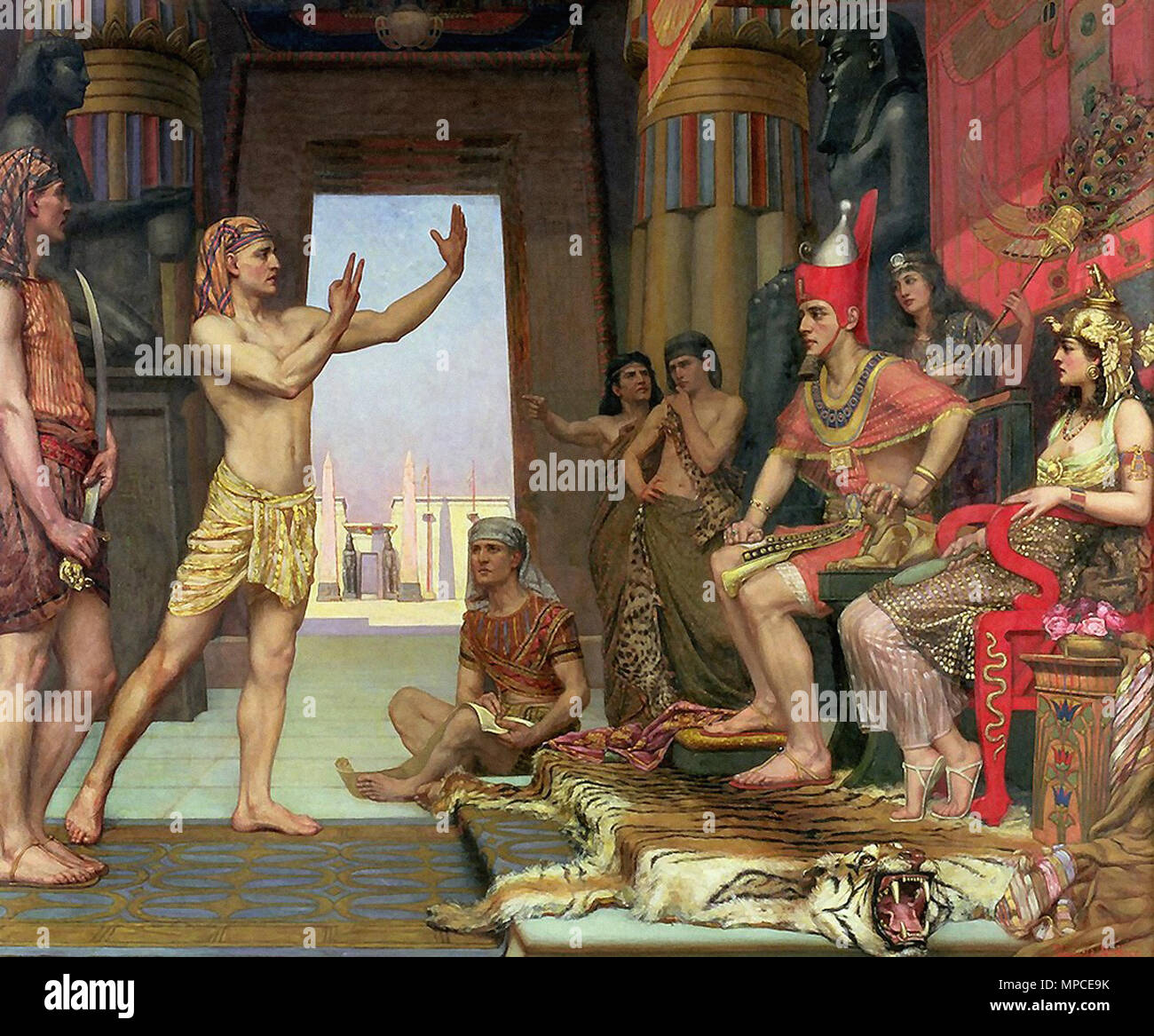 Arthur Reginald - Joseph Interprets Pharaoh's Dream 1 - Stock Image
