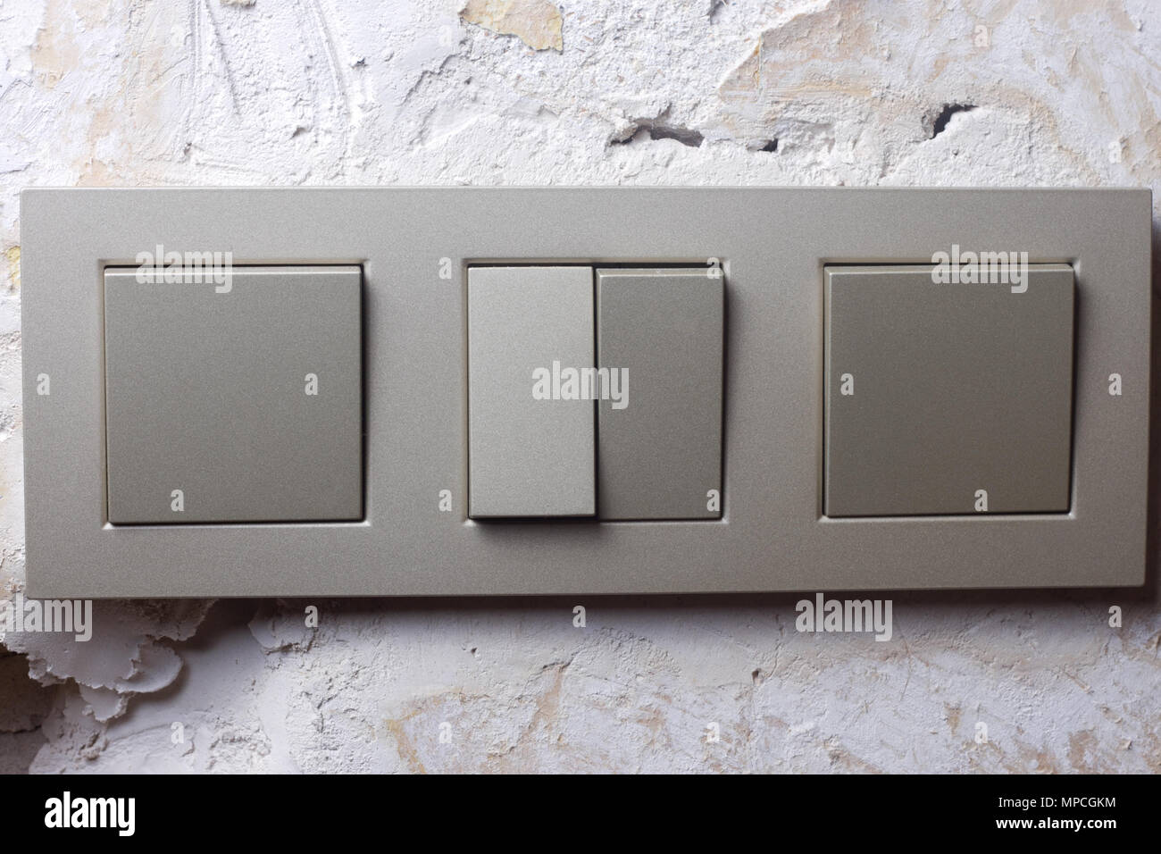 Plaster Light Switch Stock Photos & Plaster Light Switch Stock ...