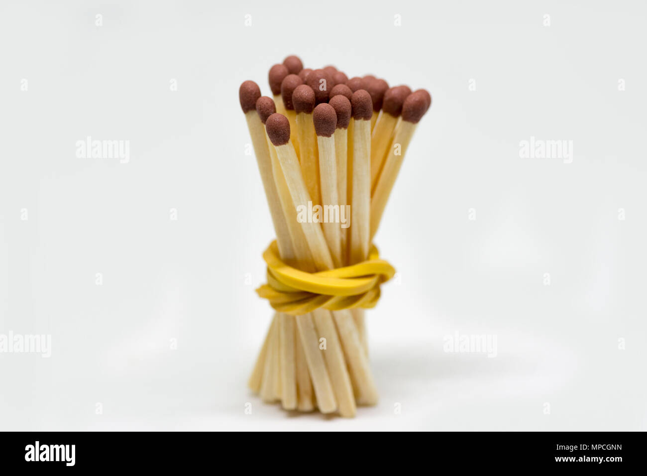 Wooden Matchstick Background - Stock Image