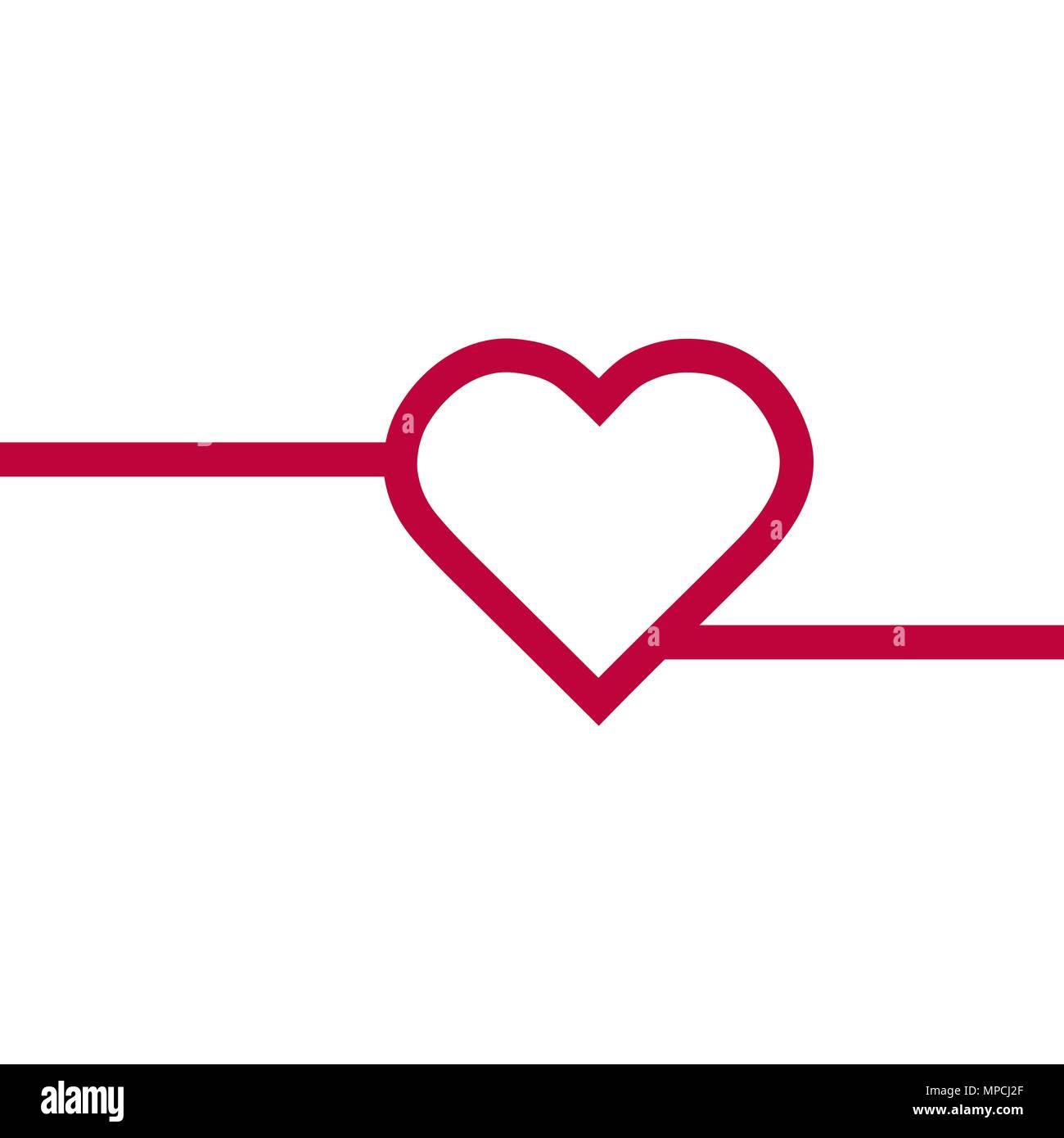Heart Arrow Love Symbol Outline Stock Vector Images Alamy