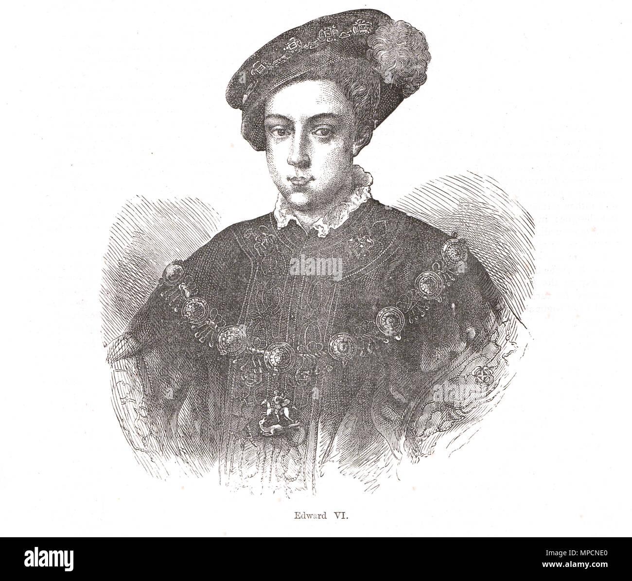 King Edward VI of England, reigned 1547-1553 - Stock Image