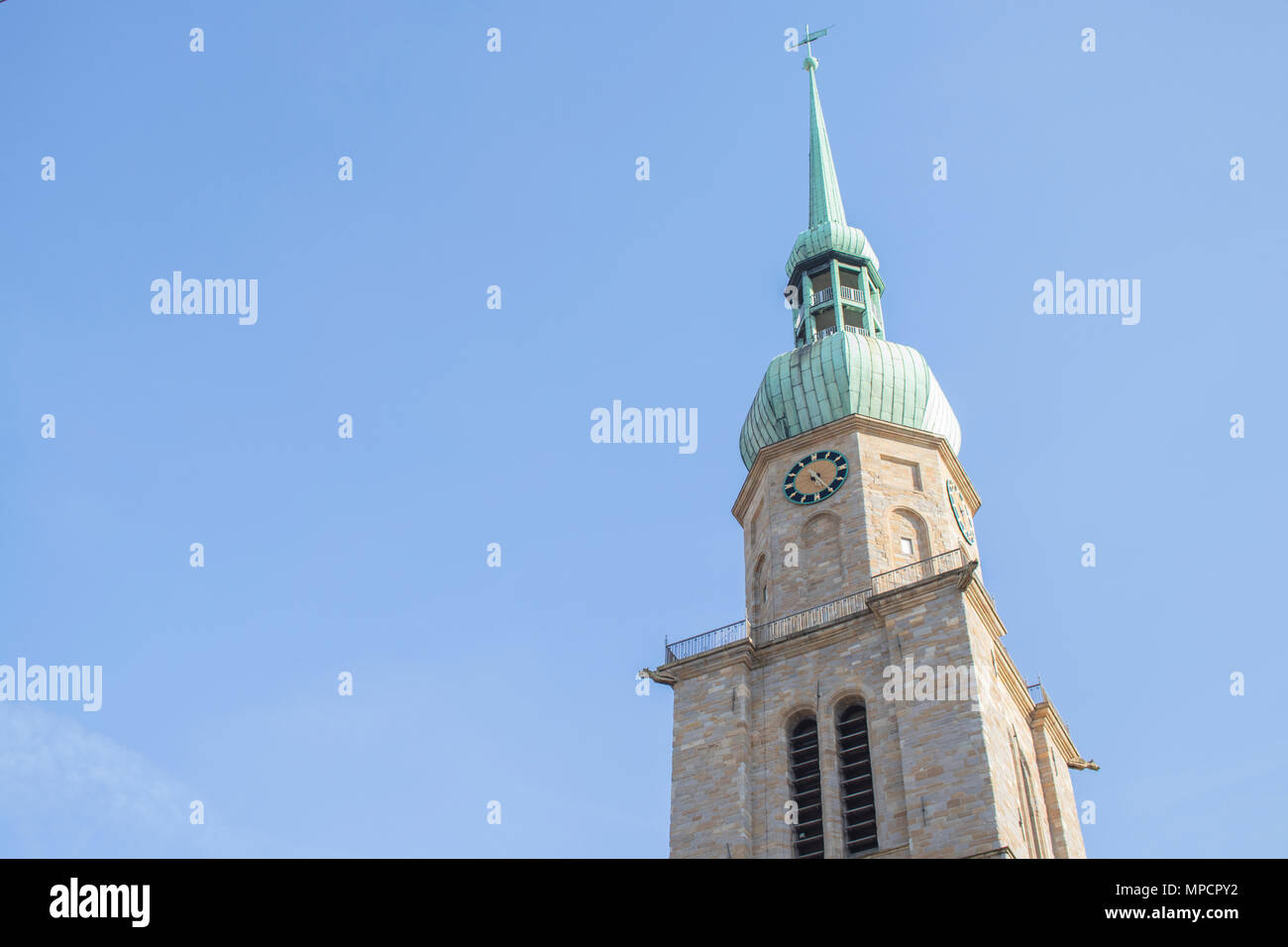Dortmund, Ruhr Area, North Rhine Westphalia, Germany - April 16 2018: St. Reinoldi Church in historic city center - Stock Image
