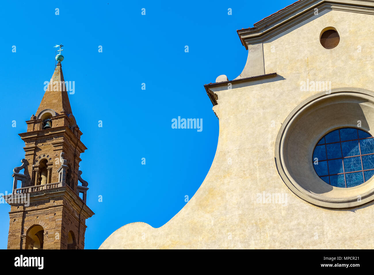 Exterior of Santo Spirito, a church located in the Oltrarno quarter in Florence, Italy - Stock Image