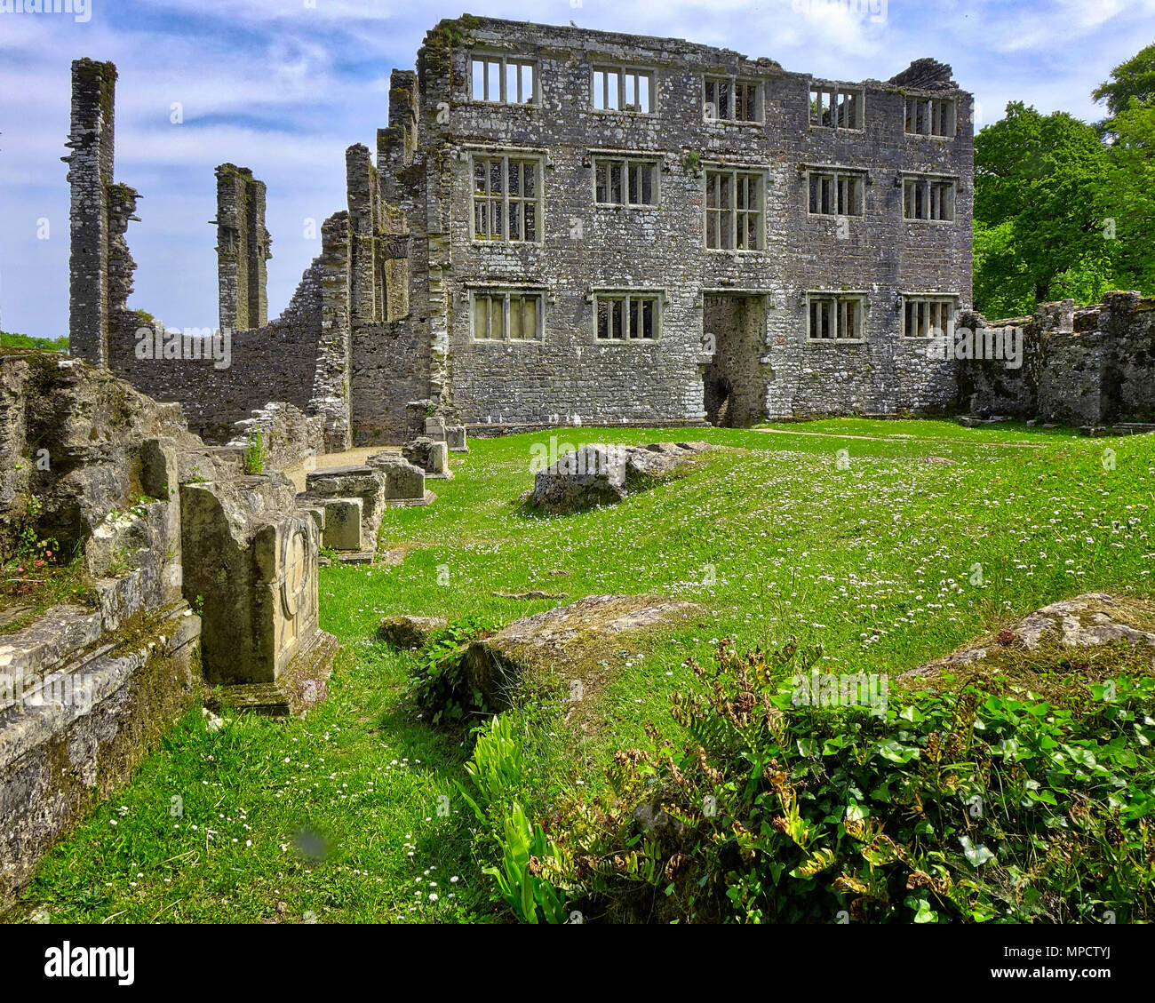 GB - DEVONSHIRE: Berry Pomeroy Castle - Lord Seymour's 16th century mansion  (HDR Image) - Stock Image