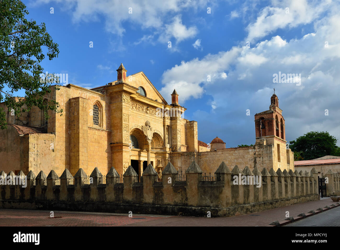 Cathedral of Santa Maria la Menor the oldest Cathedral in the Americas in Santo Domingo, Dominikan Republic - Stock Image