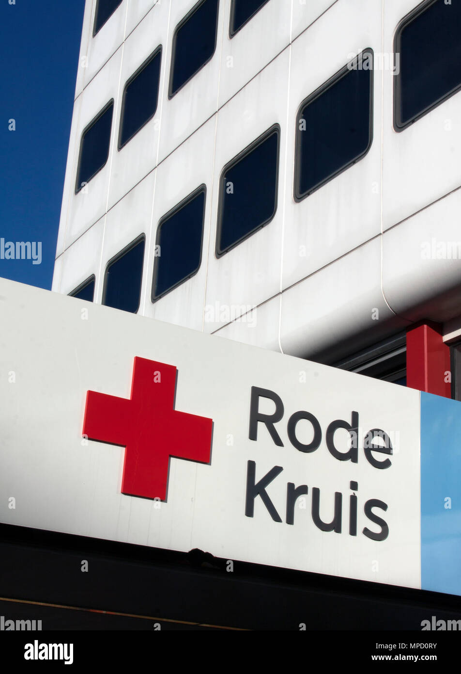 The Hague, Netherlands-december 8-2015: The Red Cross is a global humanitarian organization Stock Photo