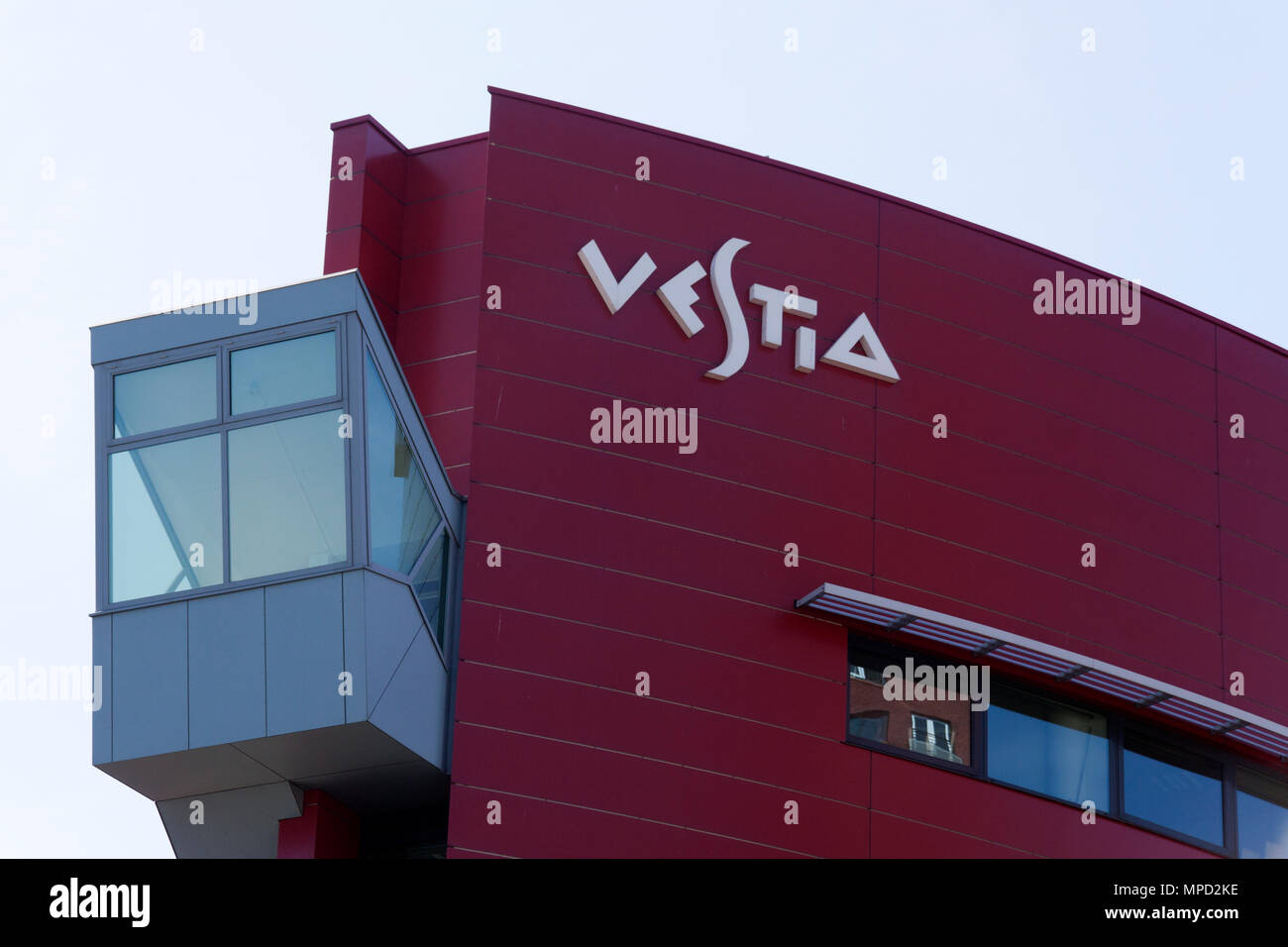 the hague , Netherlands-august 6, 2015: Vestia is a large Dutch housing association that rent houses to people. this office is located in The Hague Stock Photo