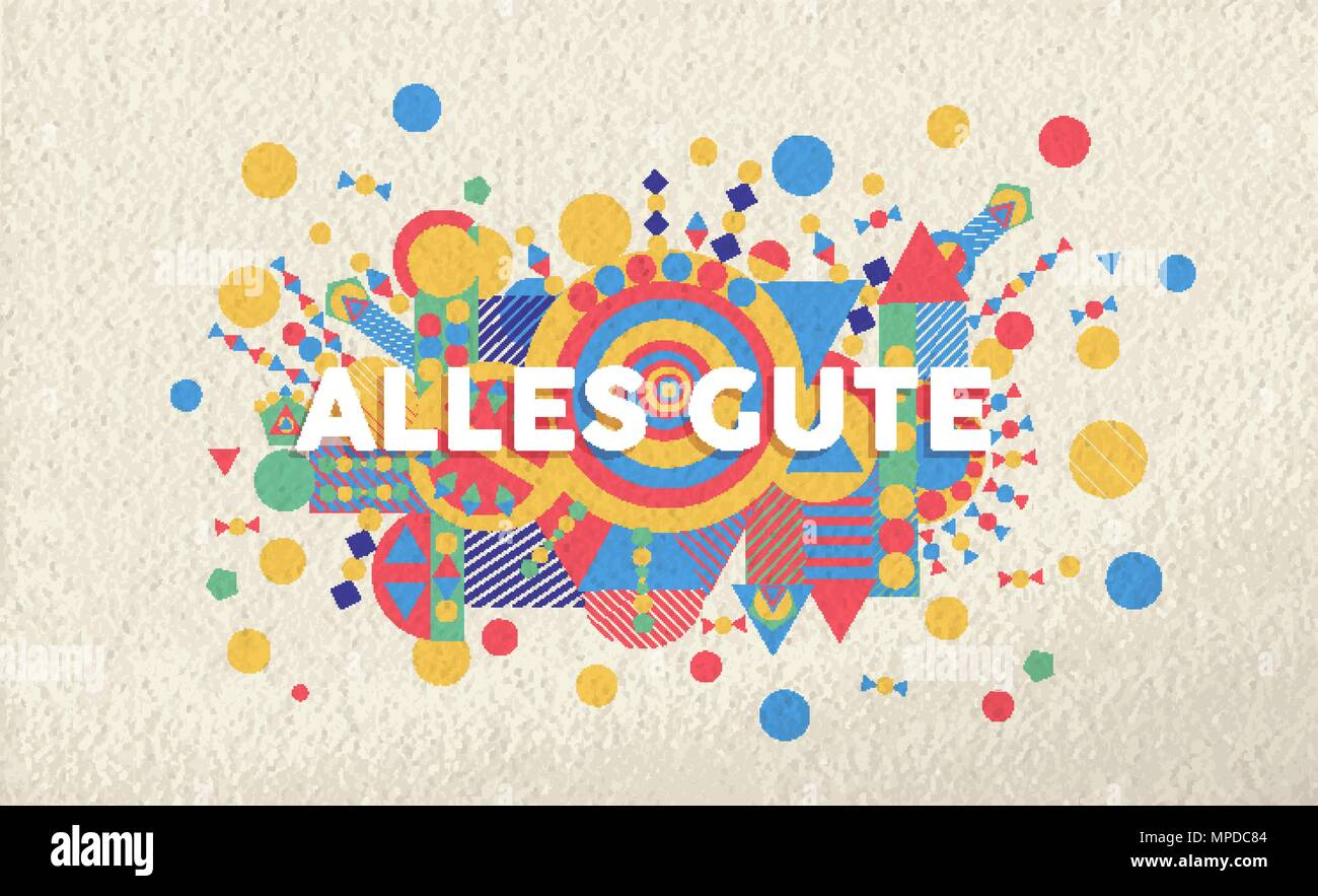 Happy Birthday Greeting Card Illustration In German Language Special Event Typography Art Ideal For Invitation Or Anniversary Eps10 Vector Stock Vector Image Art Alamy