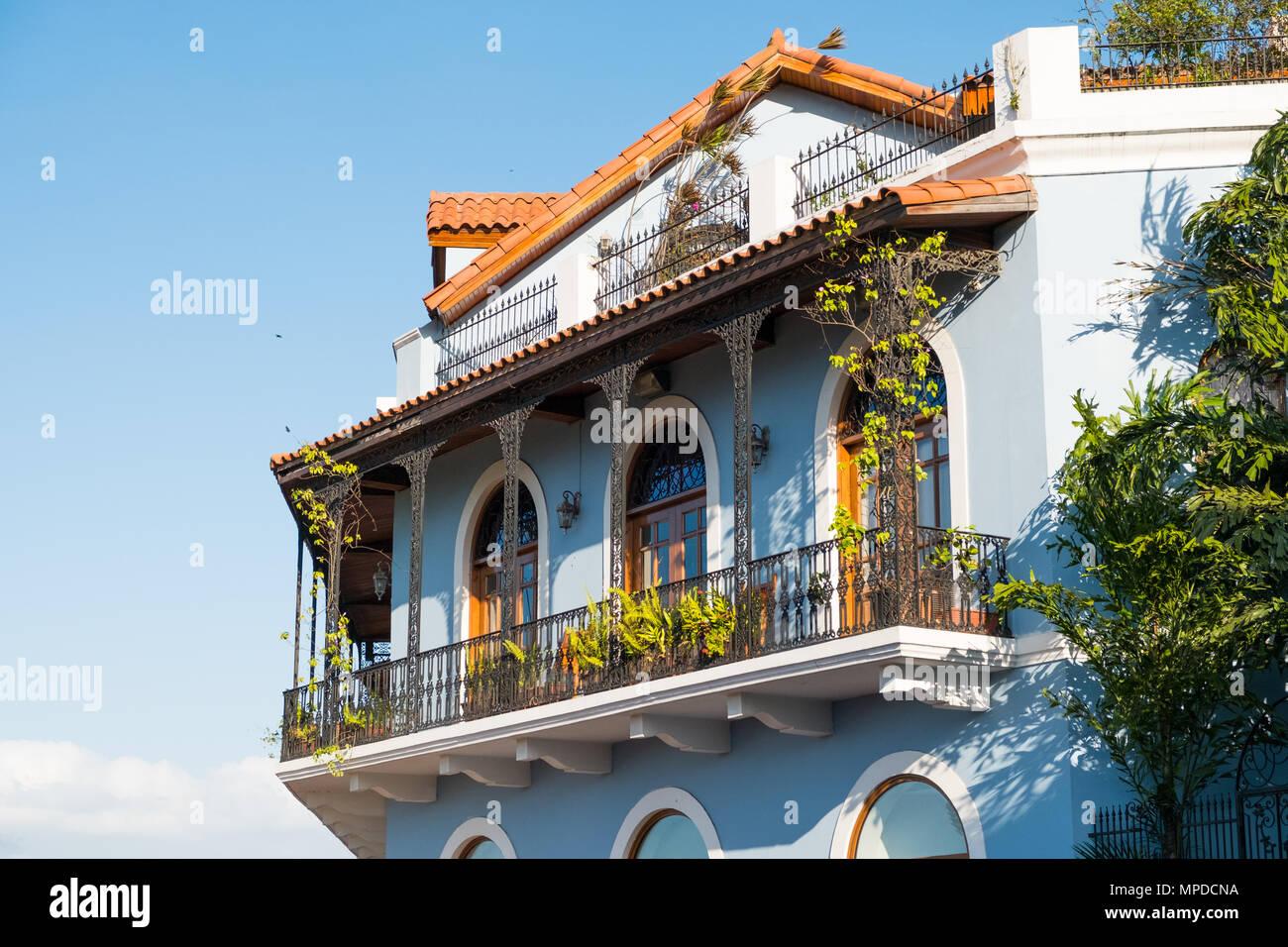 Beautiful House Facade Historic Building Exterior Casco Viejo Panama City Stock Photo Alamy