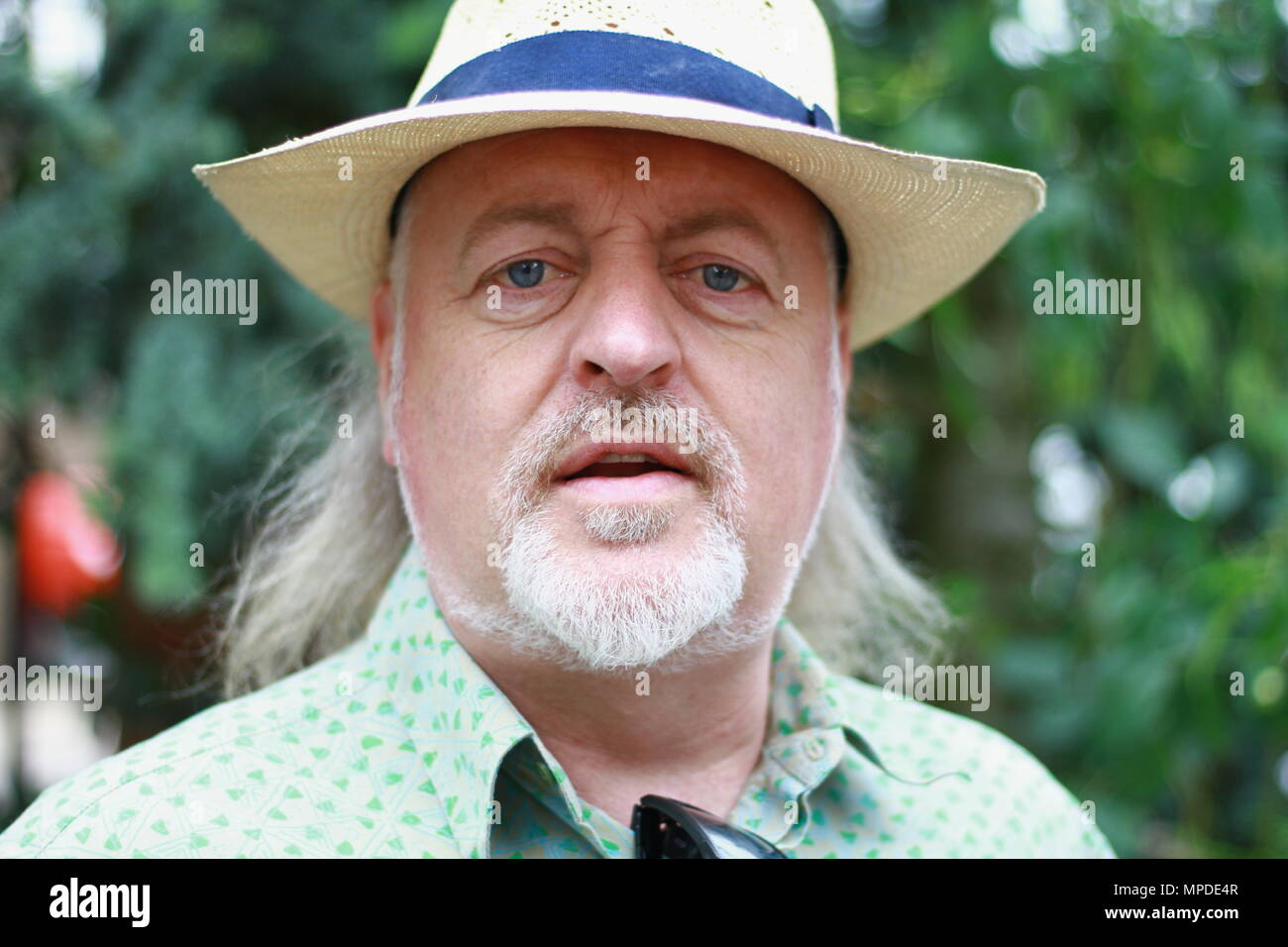 Bill Bailey photographed with his verbal consent at the Chelsea Flower show on press day on 21st May 2018. - Stock Image