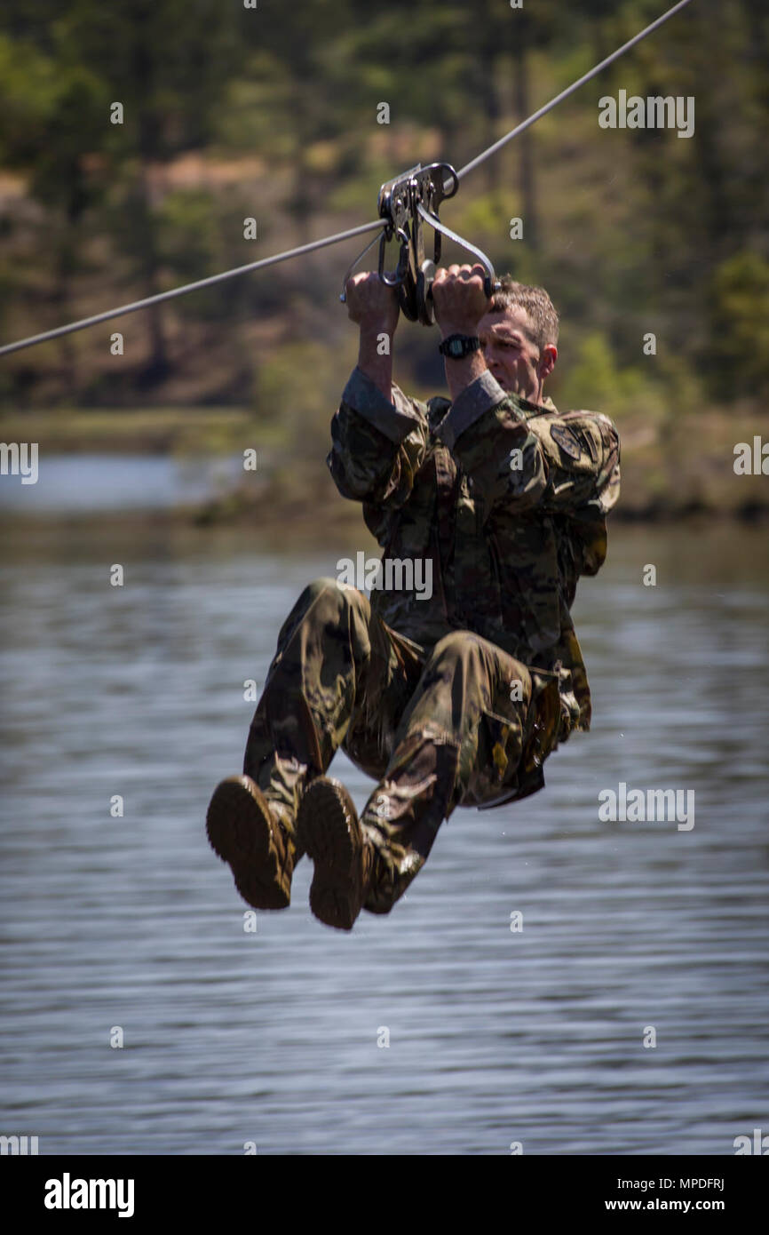 A U S  Army Ranger performs the