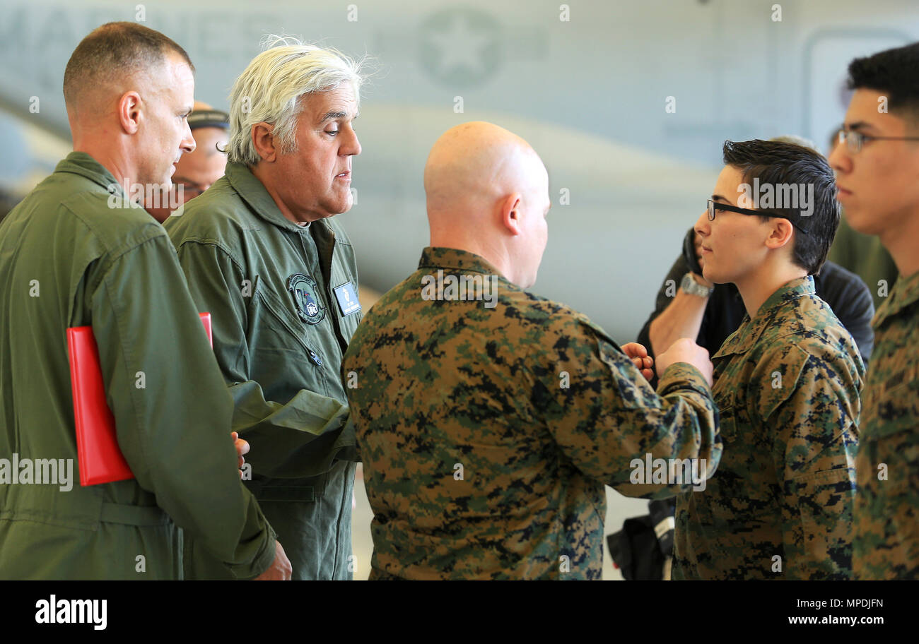 CAMP PENDLETON, Calif. - Jay Leno assists with the promotion of ...