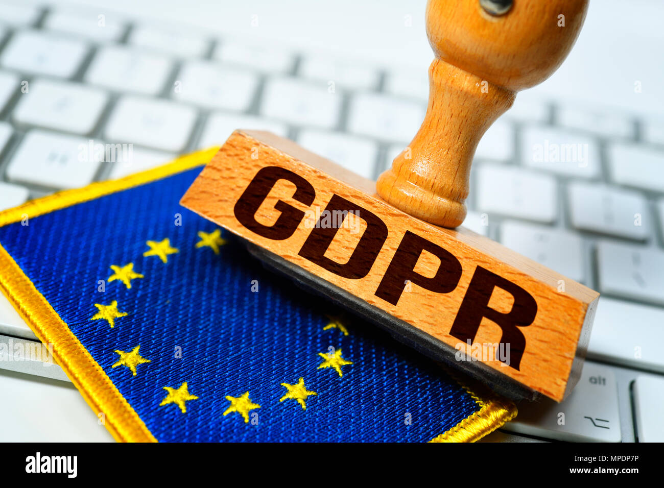 GDPR stamp, General Data Protection Regulation - Stock Image