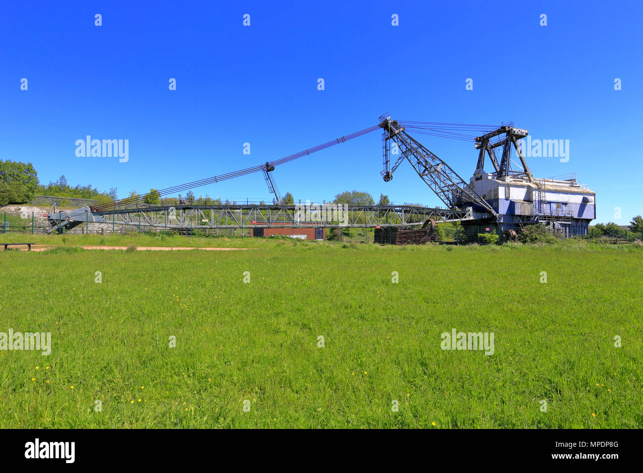 Bucyrus Erie BE 1150 Walking Dragline Excavator, known as Oddball at RSPB reserve St Aidan's near Leeds, West Yorkshire, England, UK. Stock Photo