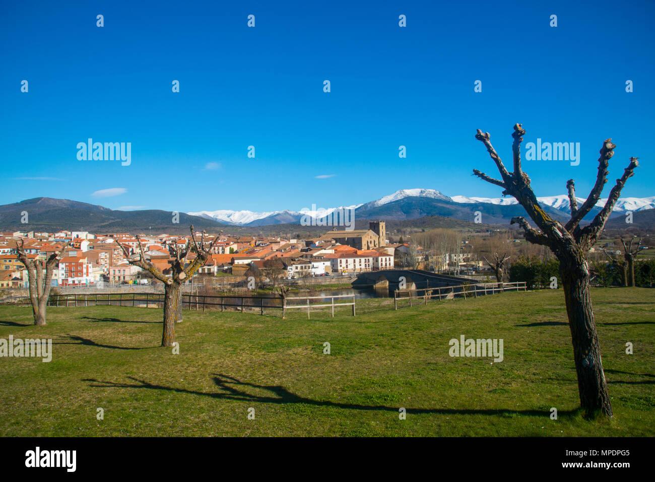Overview. El Barco de Avila, Avila province, Castilla Leon, Spain. Stock Photo