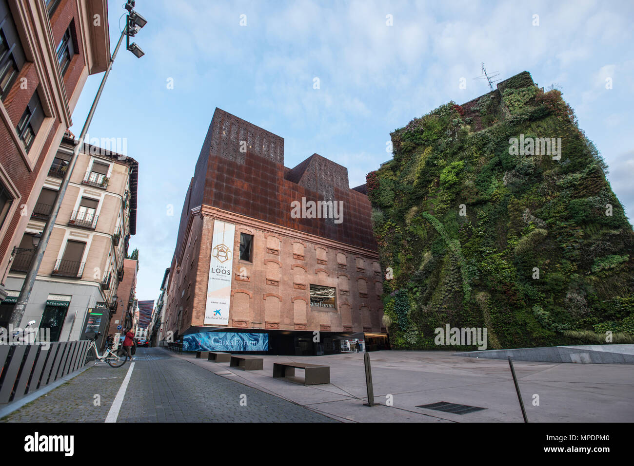 Caixa Forum building in downtown Madrid Stock Photo: 185929296 - Alamy