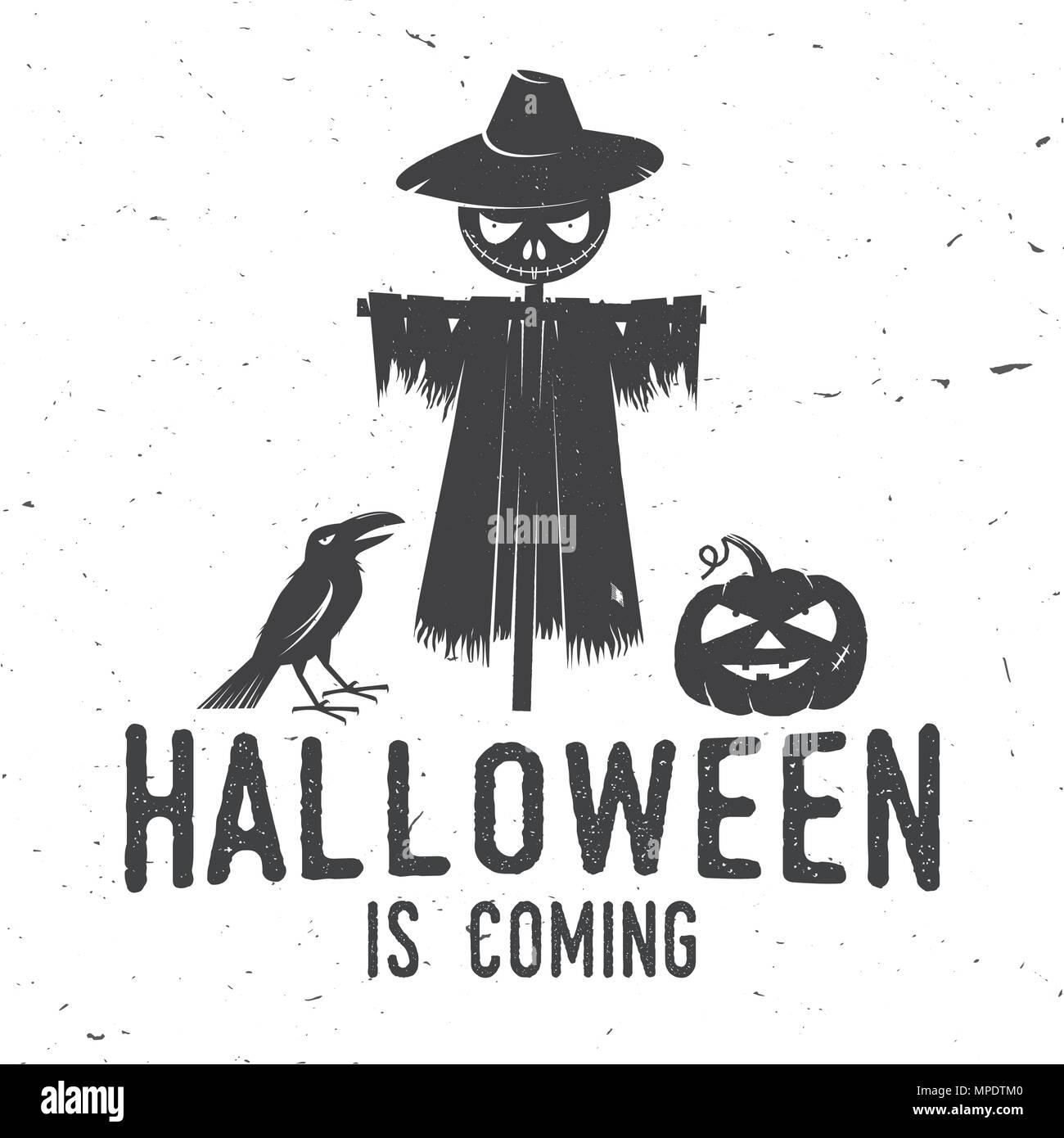 Halloween is coming concept  Vector Halloween retro badge  Overlay