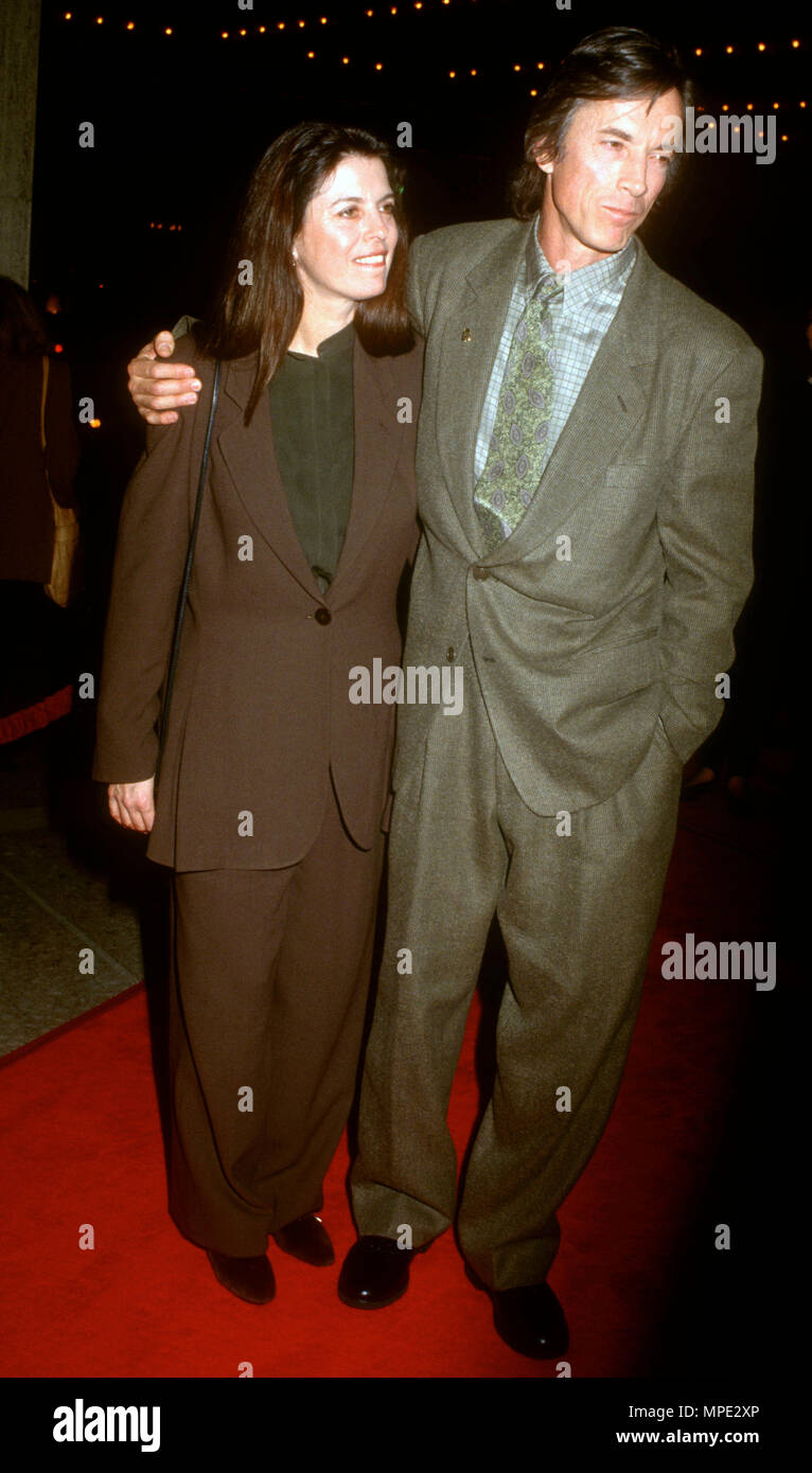 CENTURY CITY, CA - FEBRUARY 2: (L-R) Carol Schwartz and actor Scott Glenn attend 'The Silence of the Lambs' Century City Premiere on February 2, 1991 at Cineplex Odeon Century City Cinemas in Century City, California. Photo by Barry King/Alamy Stock Photo - Stock Image