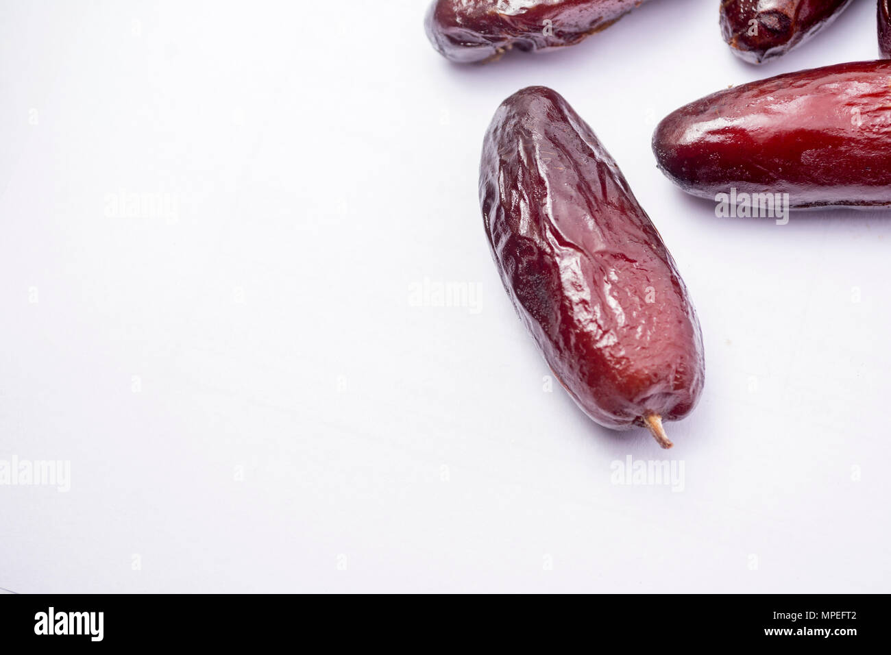 dates in white background - Stock Image