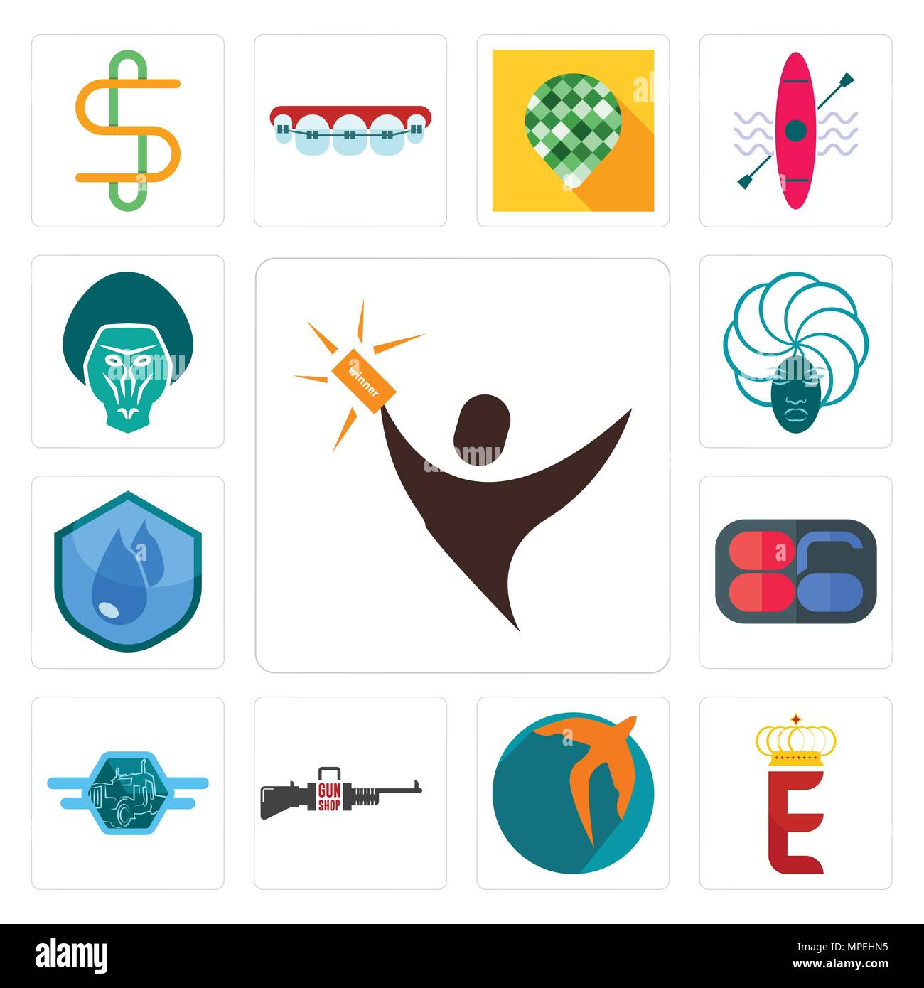 Set Of 13 simple editable icons such as lucky draw, e crown, swift